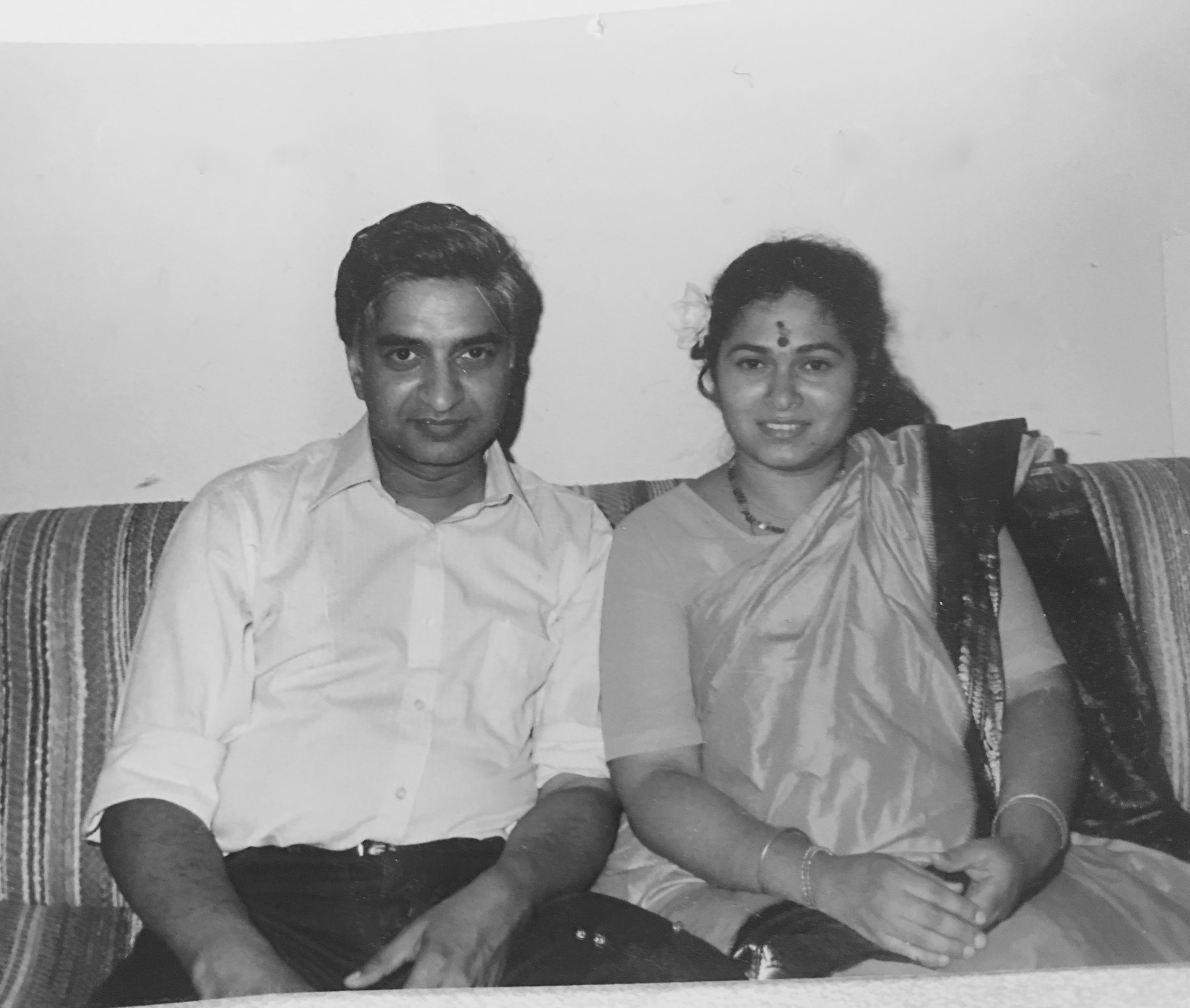 Ram and Nayana Krishnan  (Photo is provided as a courtesy to The $8 Man and is the property of Nayana and Ram Krishnan)
