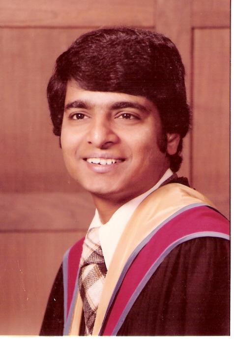 Desh Deshpande Ph.D. graduation  (Photo is provided as a courtesy to The $8 Man by Gururaj Deshpande)