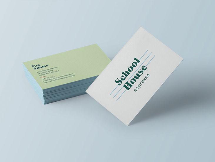 school house espresso  client work branding & fitout