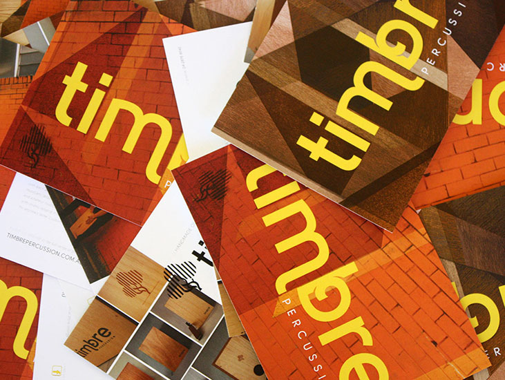 timbre percussion  client work branding