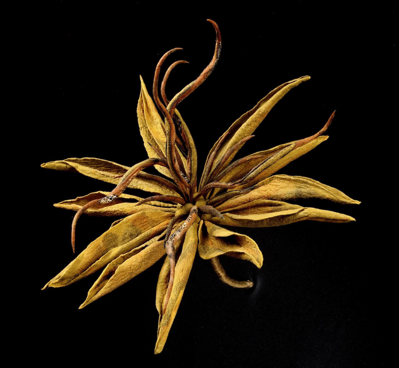 lily 'serpentine'   handmade felt, mixed media  26 x26 x27