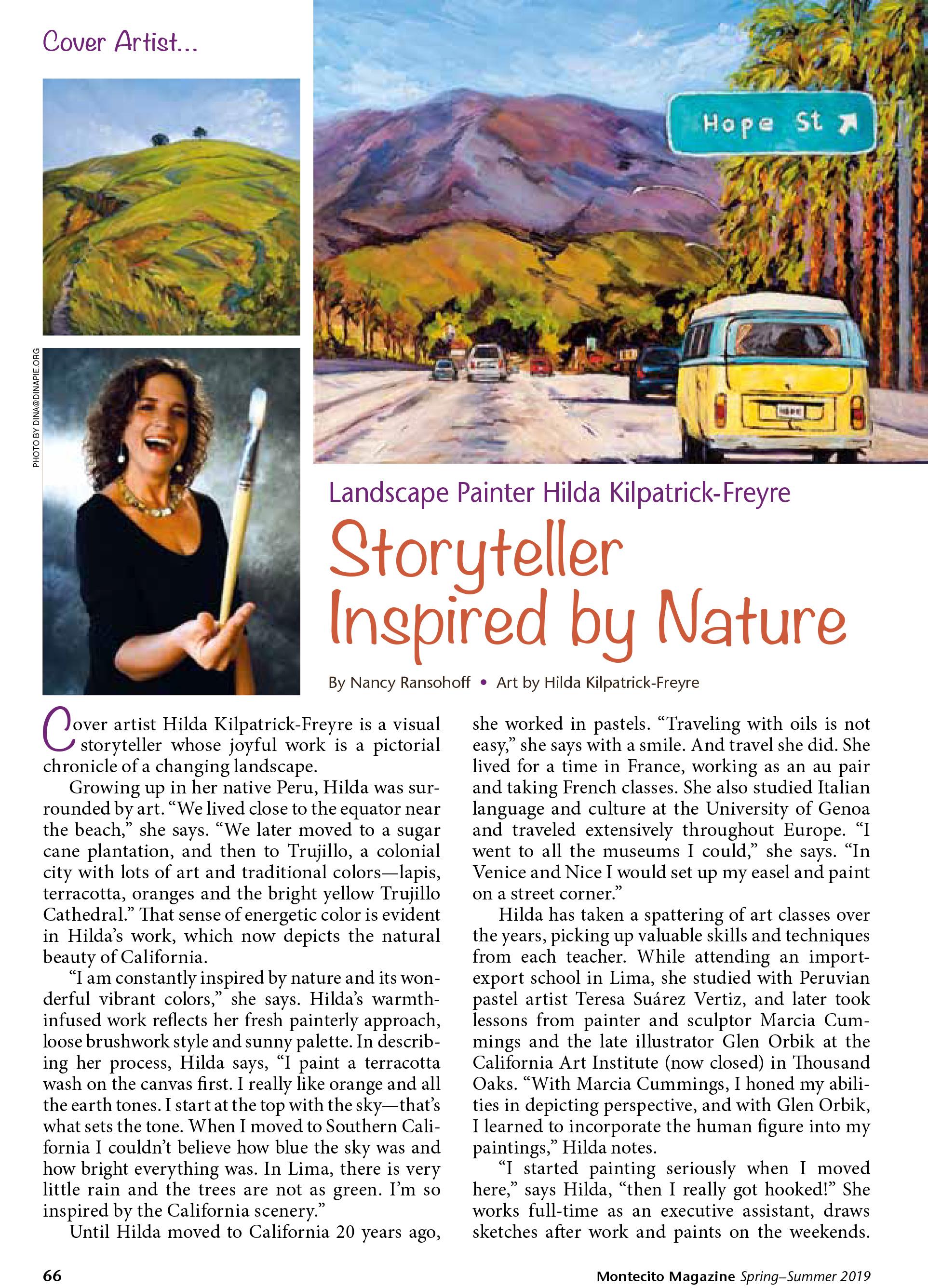 Montecito Magazine, Cover-Artist-Hilda-Kilpatrick