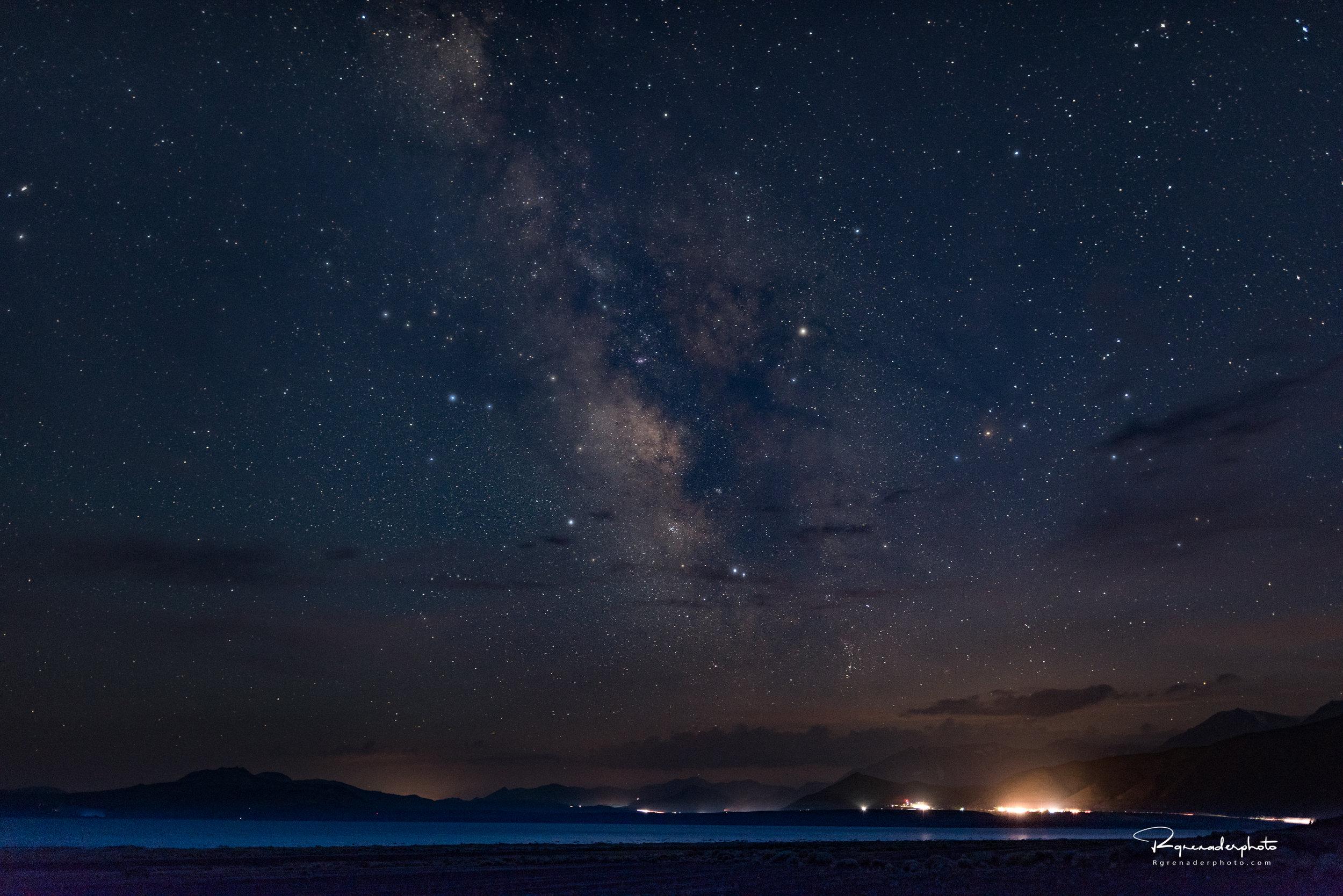 Milky Way North Shore Mono Lake Lee Vining, CA