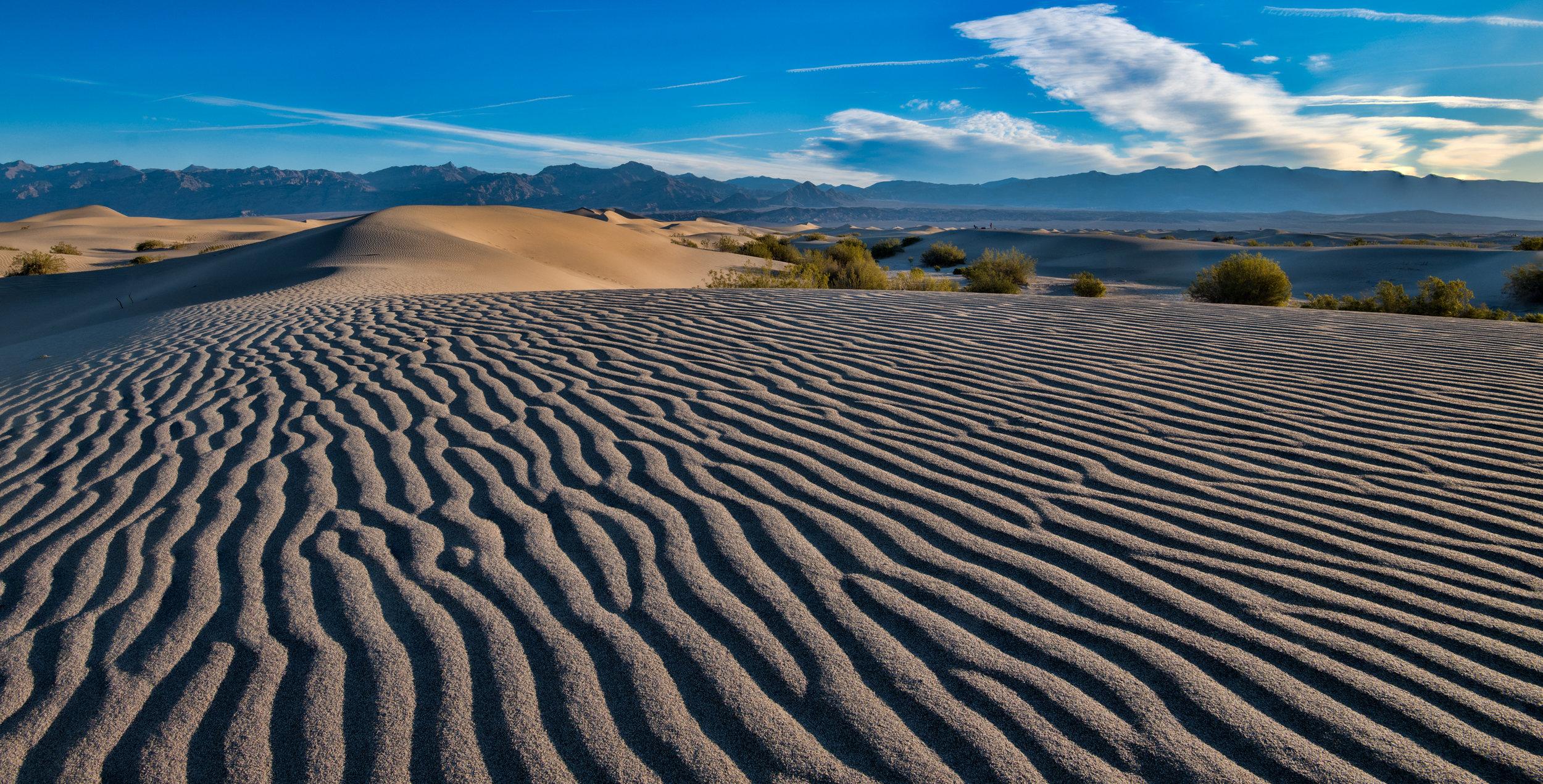 Mesquite Dunes Ground Level Death Valley, Ca