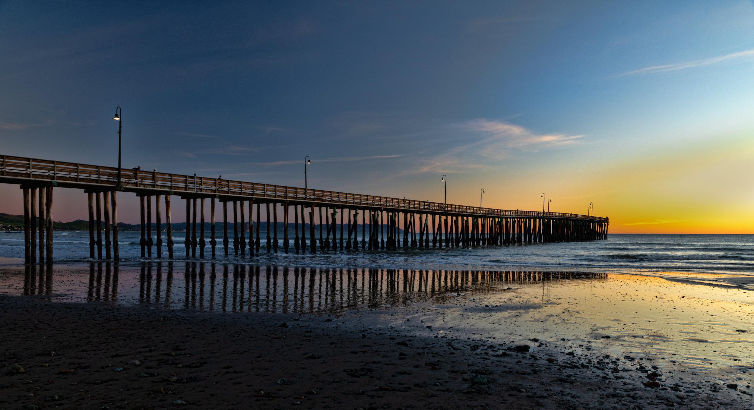 Cayucos Pier Cayucos, California Sunset