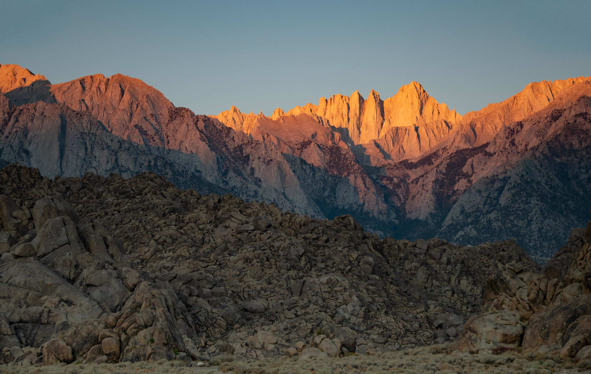 Mt Whitney Sunrise Lone Pine, Ca