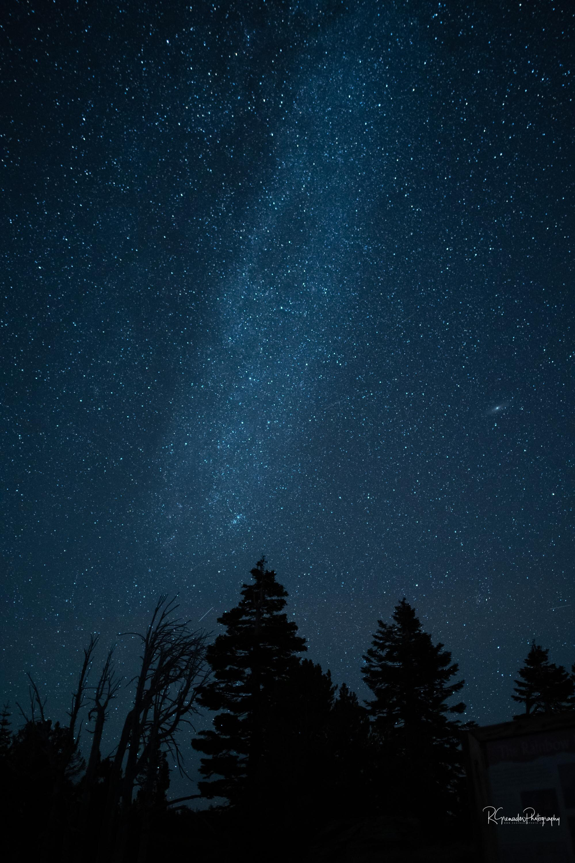Milky Way and Andromeda Mammoth Lakes, California