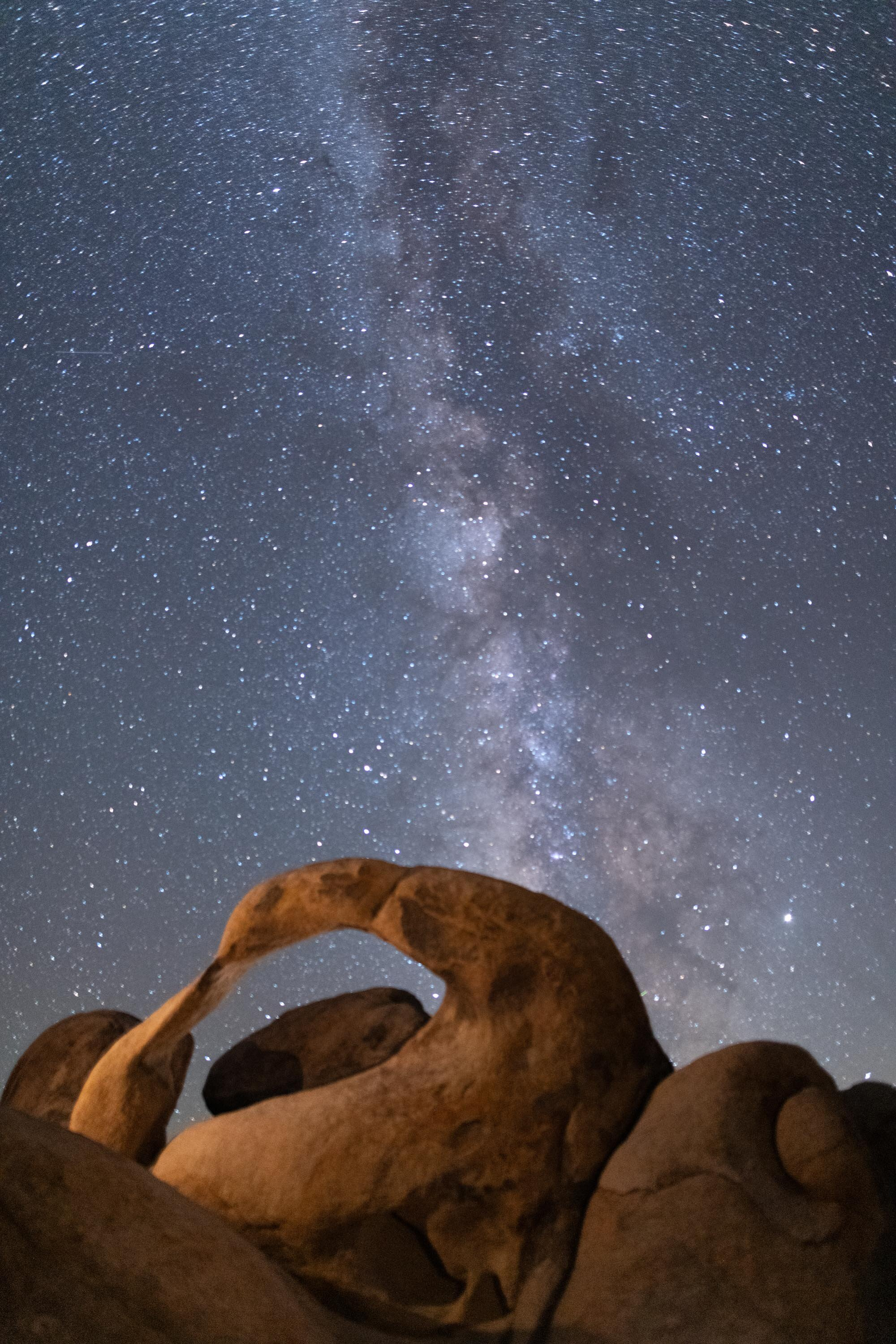 Mobius Arch and Milky Way Lone Pine, California