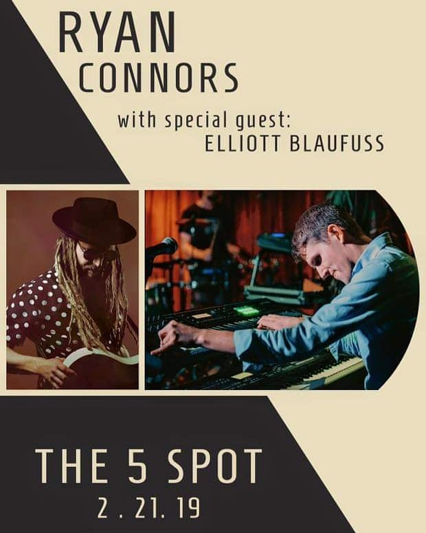 Aye, Nashville!!!!! Tomorrow night come thru to the 5 Spot. Ryan Connors, Dynamo's Fearless Leader is gonna be playing his beautiful music!!! Elliot Blaufuss is opening up @ 9 p.m. Don't miss out. See you there! 😎