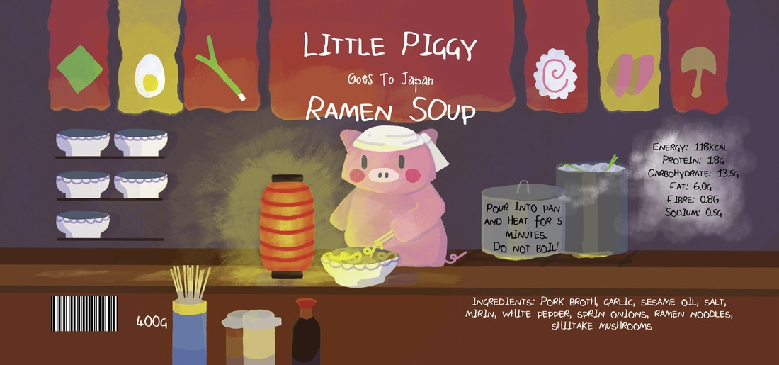 Little Piggy Goes to Japan Text