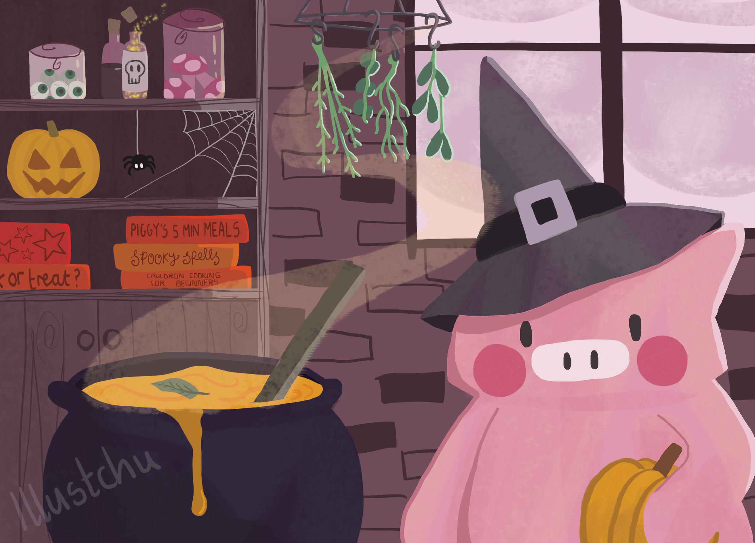 illustchu_Hallow_Piggy
