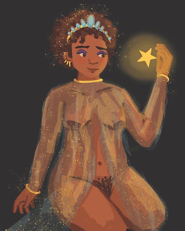 Catch a falling star! ⭐️ #illustration #illustrationhowl #illustrationdaily #digitalart #spaceart #spacenerd #artistofig #instaartist #instaart #stars #space #femaleartist #womenwhodraw #illustrationfriday #illustchu