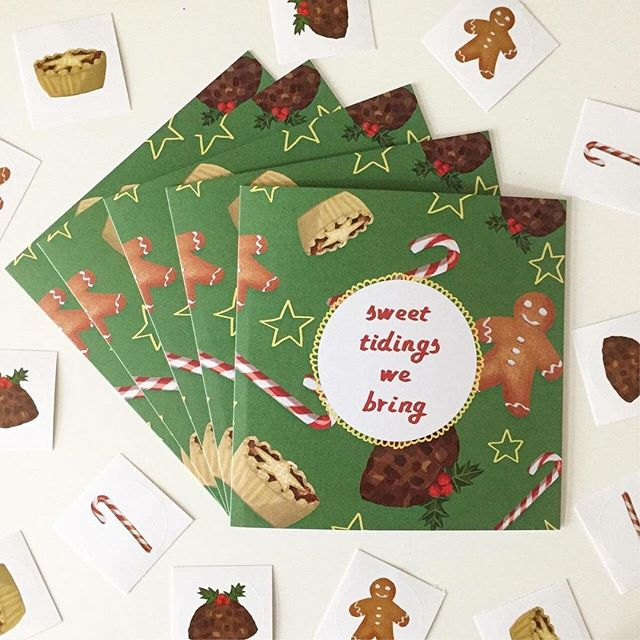 It's coming up to that time of year again! 🎅🎄⛄ My Christmas cards and stickers are available to purchase and, until November 26th, they are 20% off!  If you don't have an etsy account but would like to purchase some festive goodies, no worries - just private message me and we can sort something out!  Link in bio!  #etsymade #etsymadelocaluk #handmadechristmas #christmascards #illustrationhowl #illustrationdaily #christmasfood #mincepie #christmaspudding #gingerbread #candycane #etsysale #illustchu