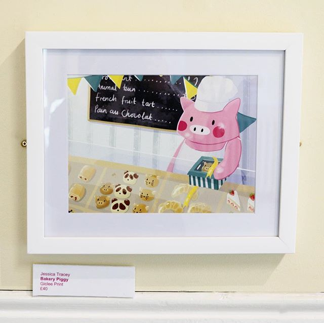 Bakery Piggy is dreamin' 'bout snackz 🍩  #illustration #childrensillustration #kidlitart #kidlit #artexhibition #illustrationexhibition #illustrationhowl #illustrationdaily #digitalart #foodart #cuteart #bakerylife #patisseriefrancaise #veganbaking #yearofthepig #nuneaton