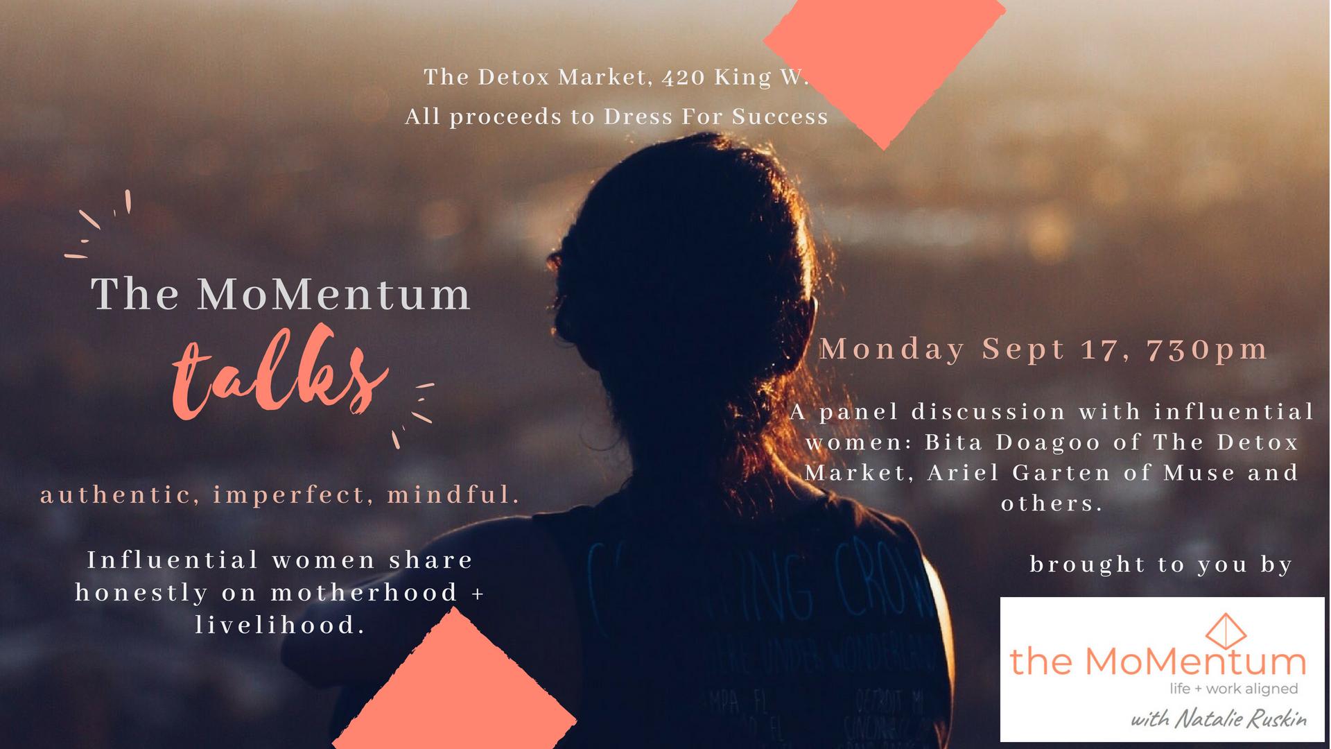poster for Natalie Ruskin MoMentum Talks Event on Mon 17 Sept 2018.png