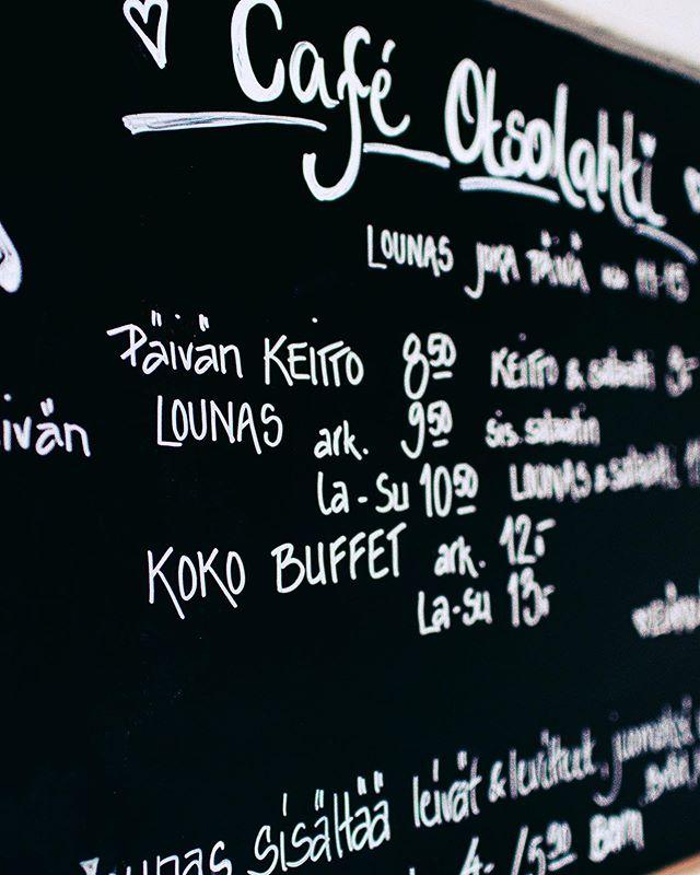 Ensi viikon lounaat on päivitetty nettiin!🍝 Käy kurkkaamassa löytyykö sinun lempiruokasi ensi viikon listalta. Lounaslista löytyy nettisivuiltamme osoitteesta www.cafeotsolahti.fi . #lounas #lunch #lounasespol
