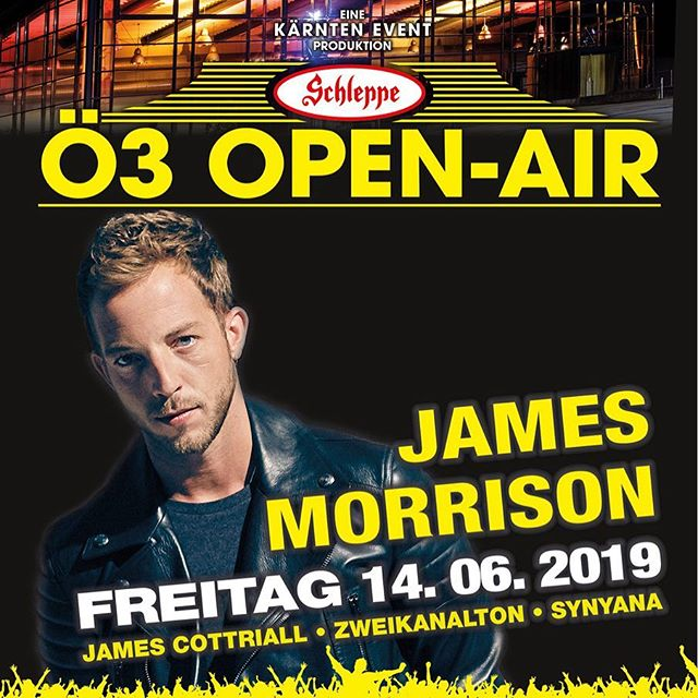 So excited for this show in Klagenfurt 🇦🇹 with @jamesmorrisonok and @zweikanalton_ on June 14th