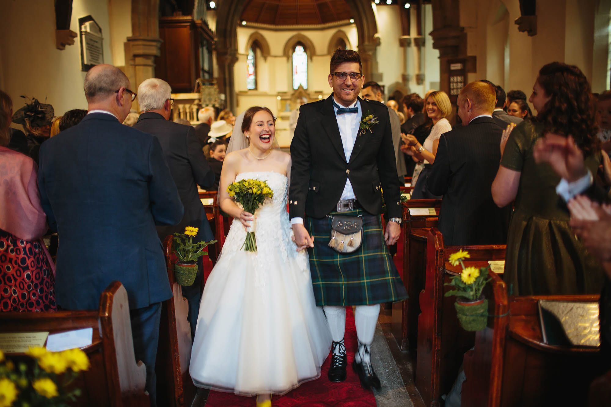 Leeds Yorkshire Wedding Photographer Bride Groom Married Church