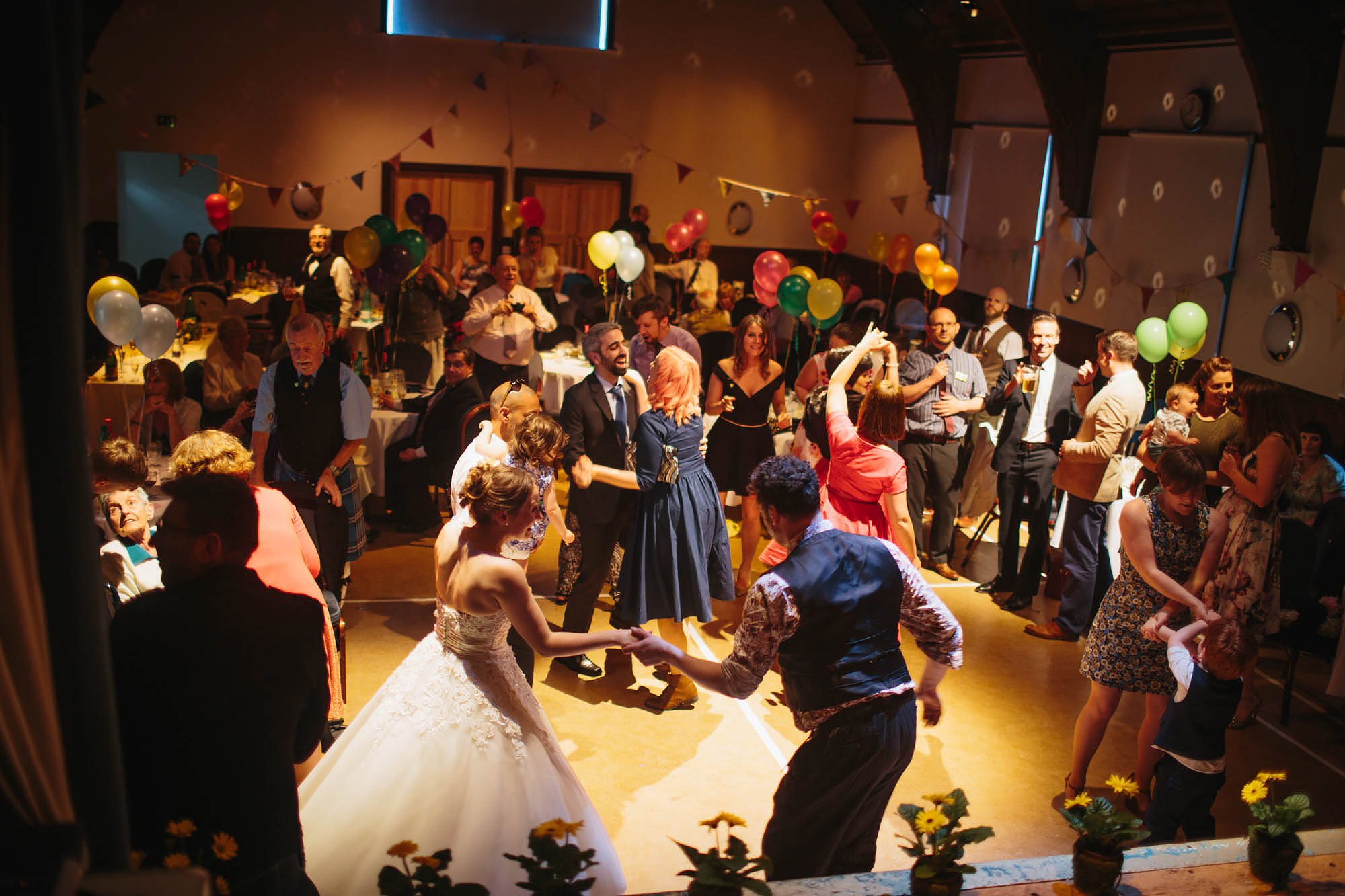 Leeds Yorkshire Wedding Photographer Swing Dance Bride Party
