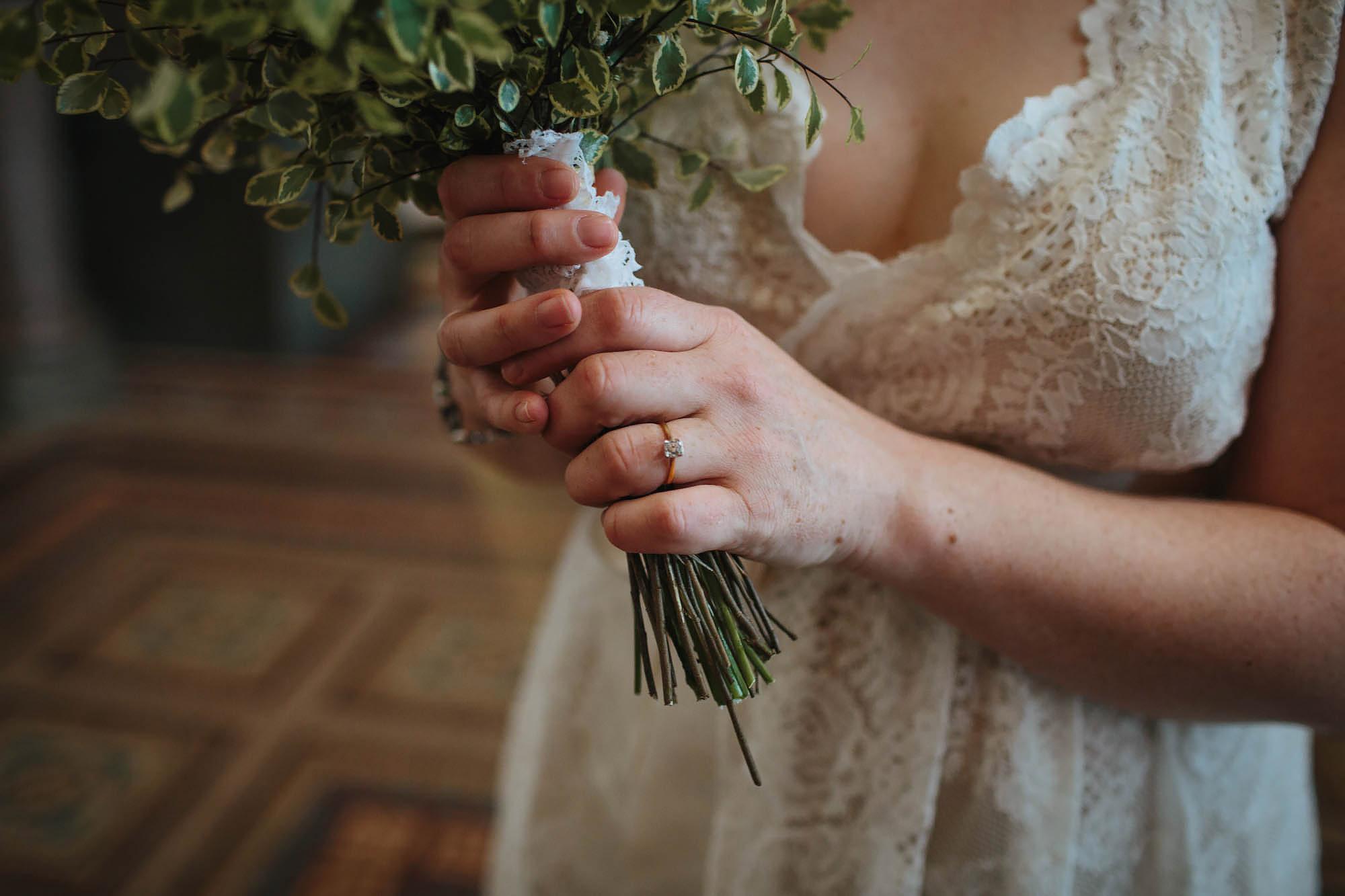Leeds Yorkshire Wedding Photographer Ring Flowers Bride
