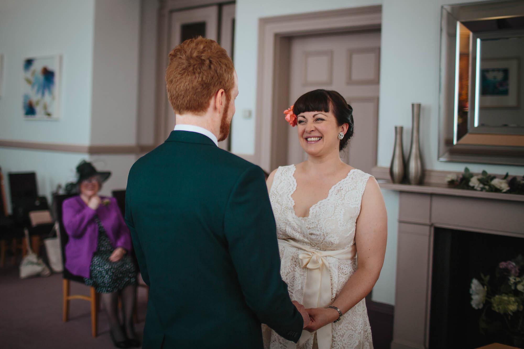 Leeds Yorkshire Wedding Photographer Ceremony Town Hall Bride Groom