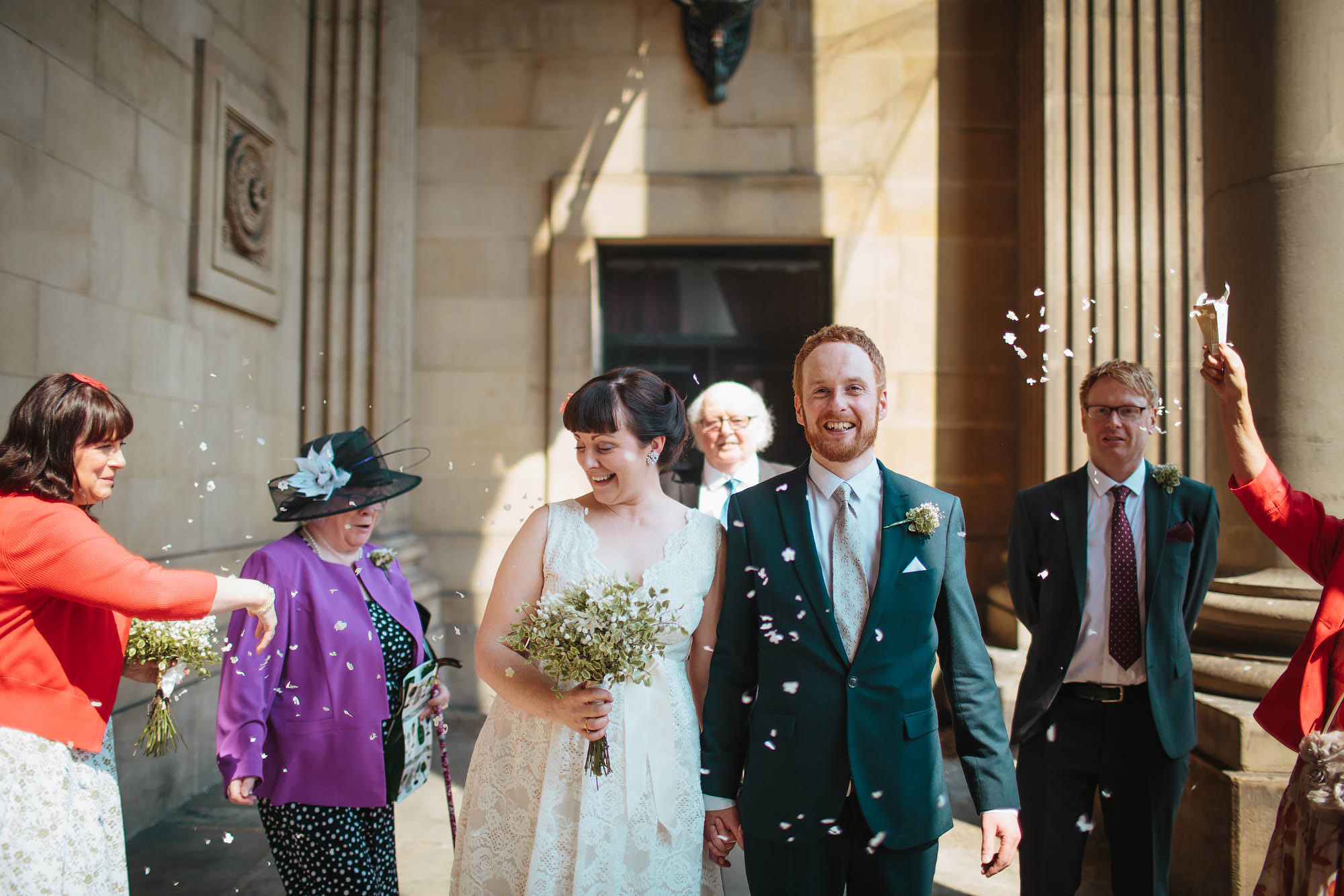 Leeds Yorkshire Wedding Photographer Confetti Town Hall
