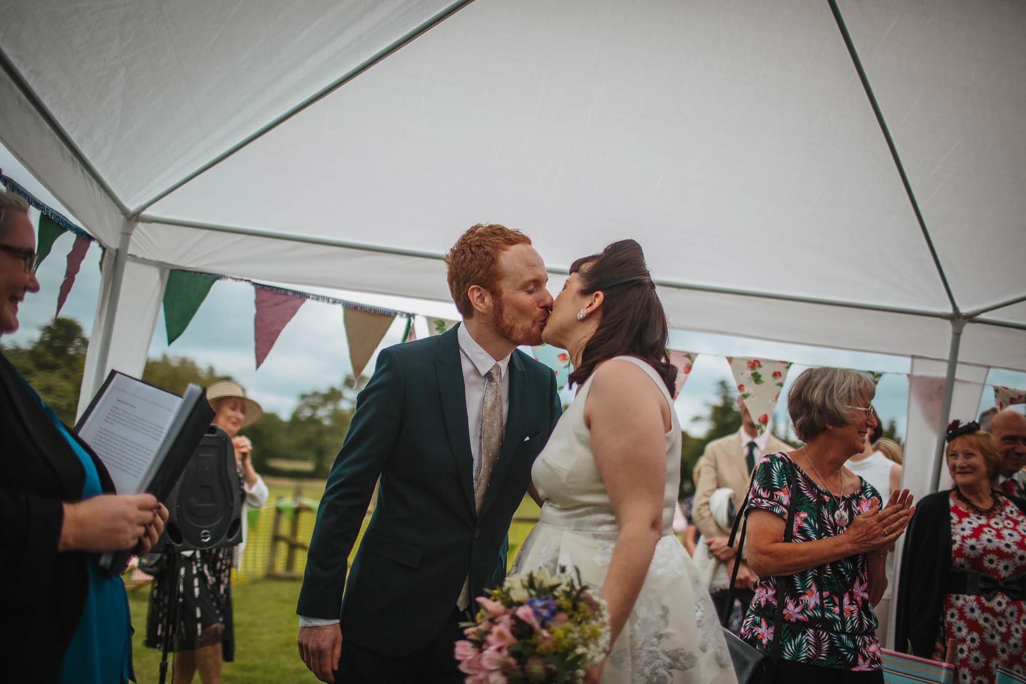 Leeds Yorkshire Wedding Photographer Kiss Bride Groom