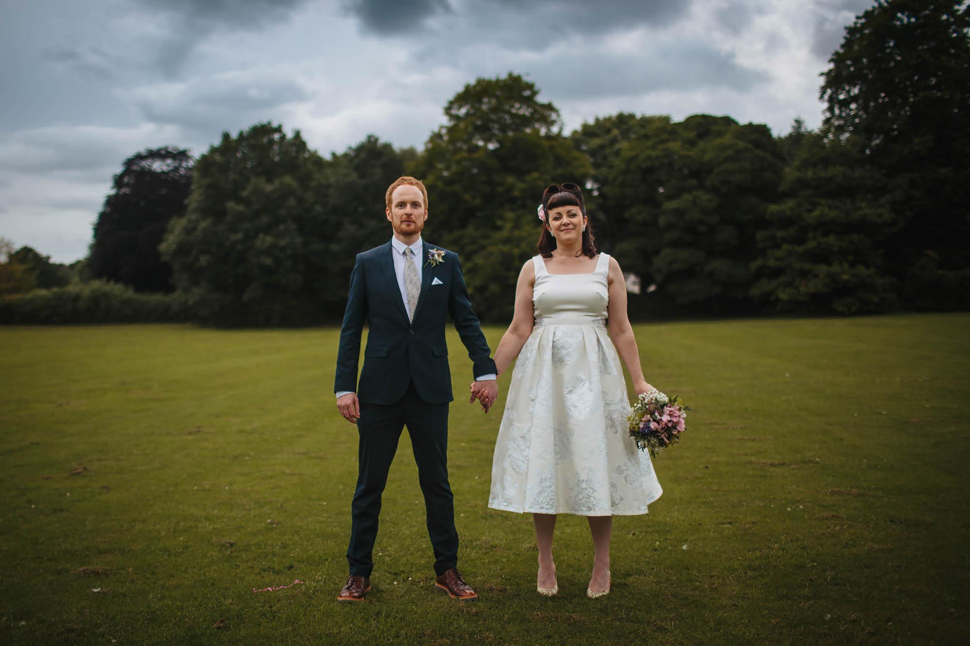 Leeds Yorkshire Wedding Photographer Portrait Grass Trees