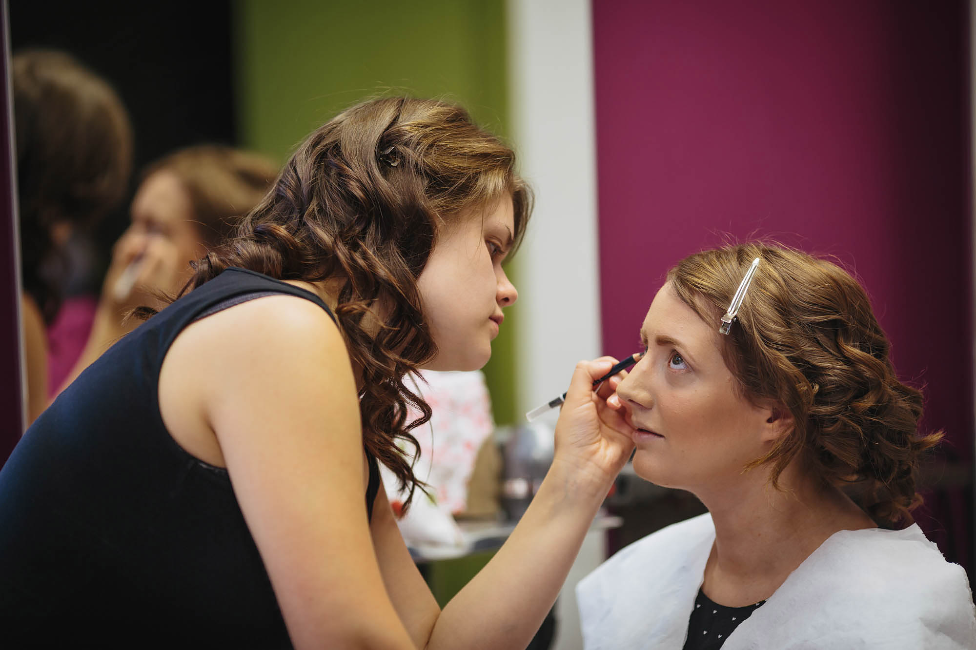 Leeds Yorkshire Wedding Photographer Makeup Prep