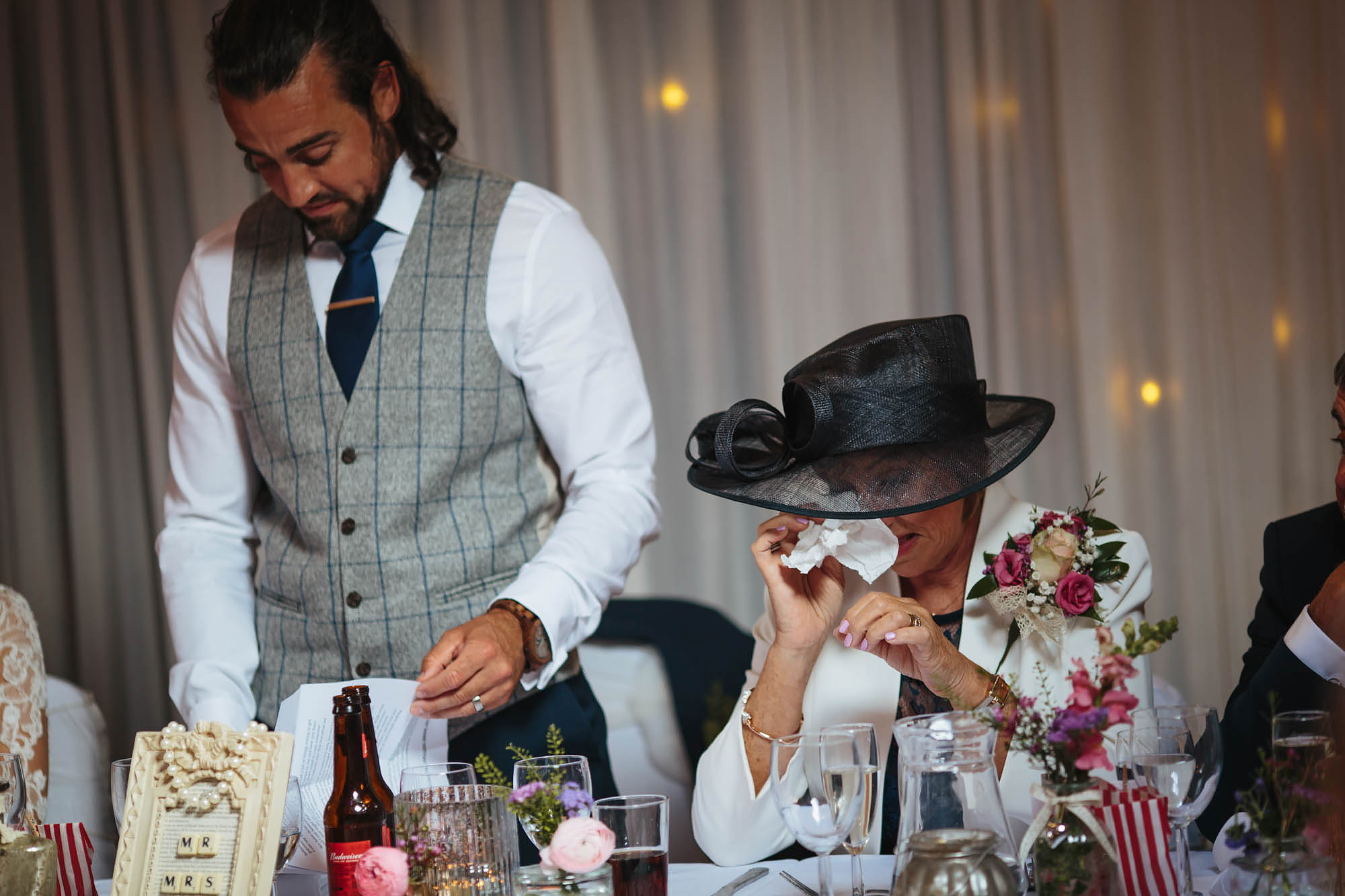 Mother cries at grooms speech on his wedding day