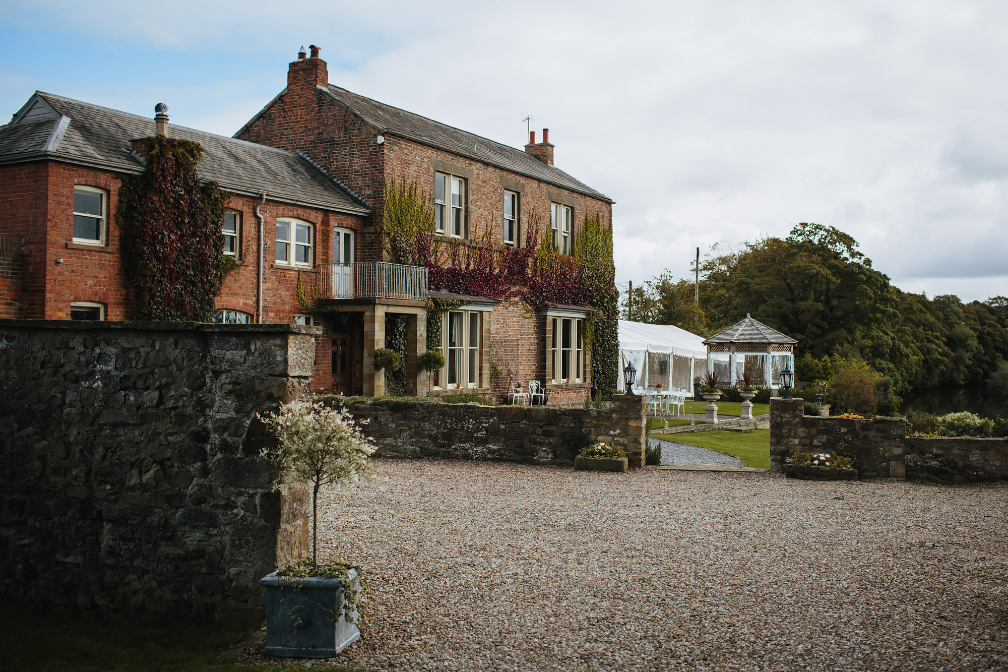 Tanfield House and adjoining marquee