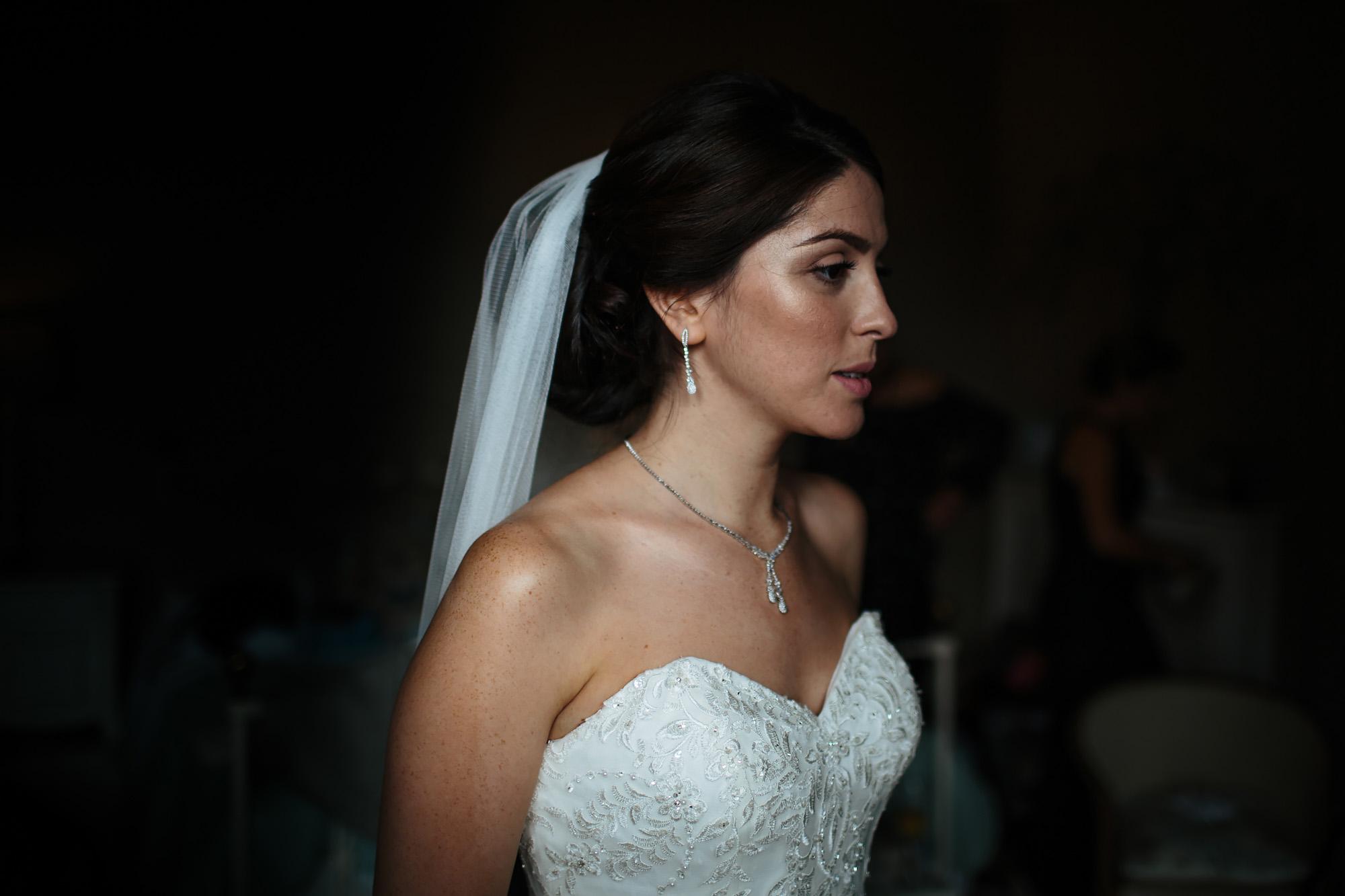 Bride portrait in natural window light