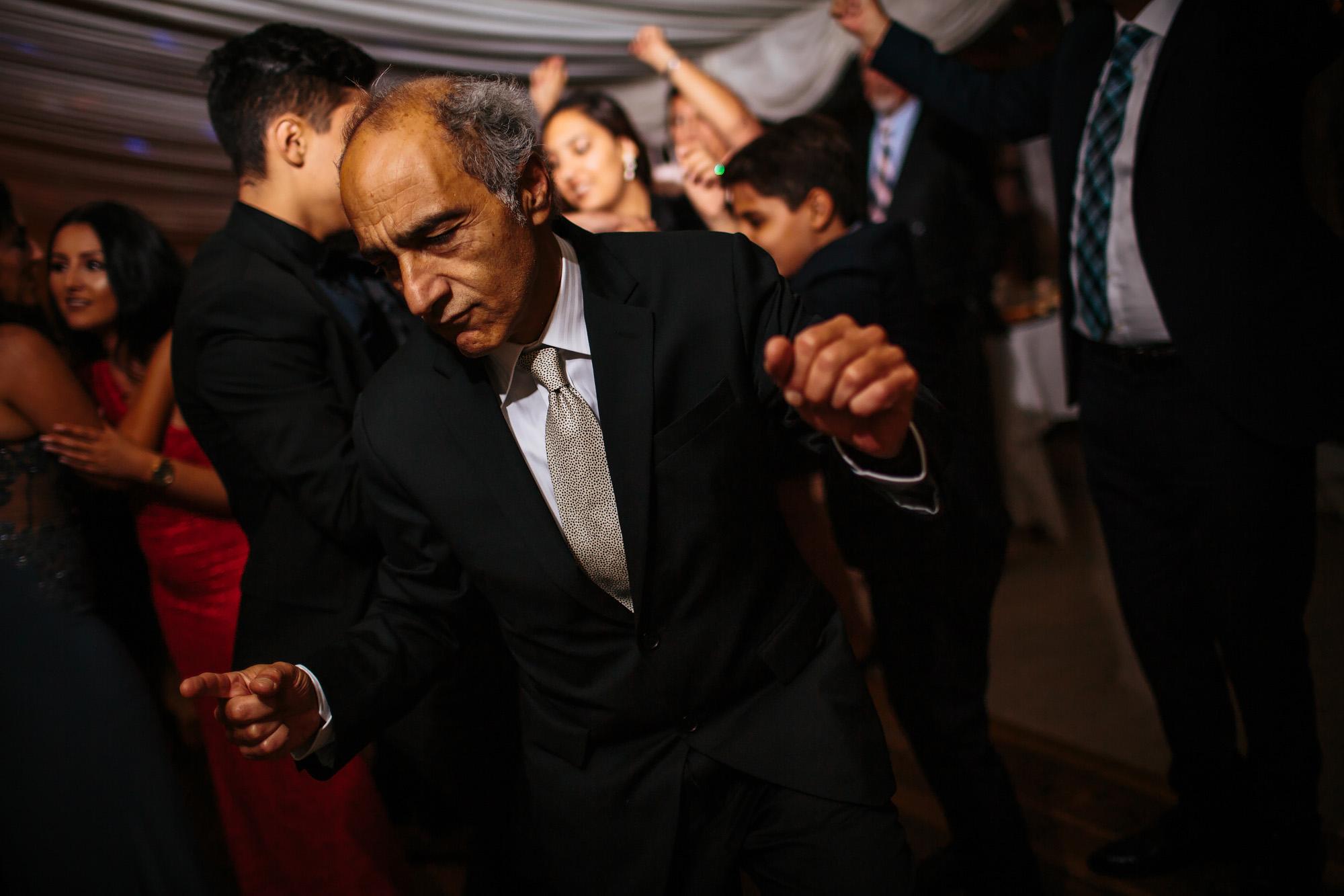 Guest dances at a wedding
