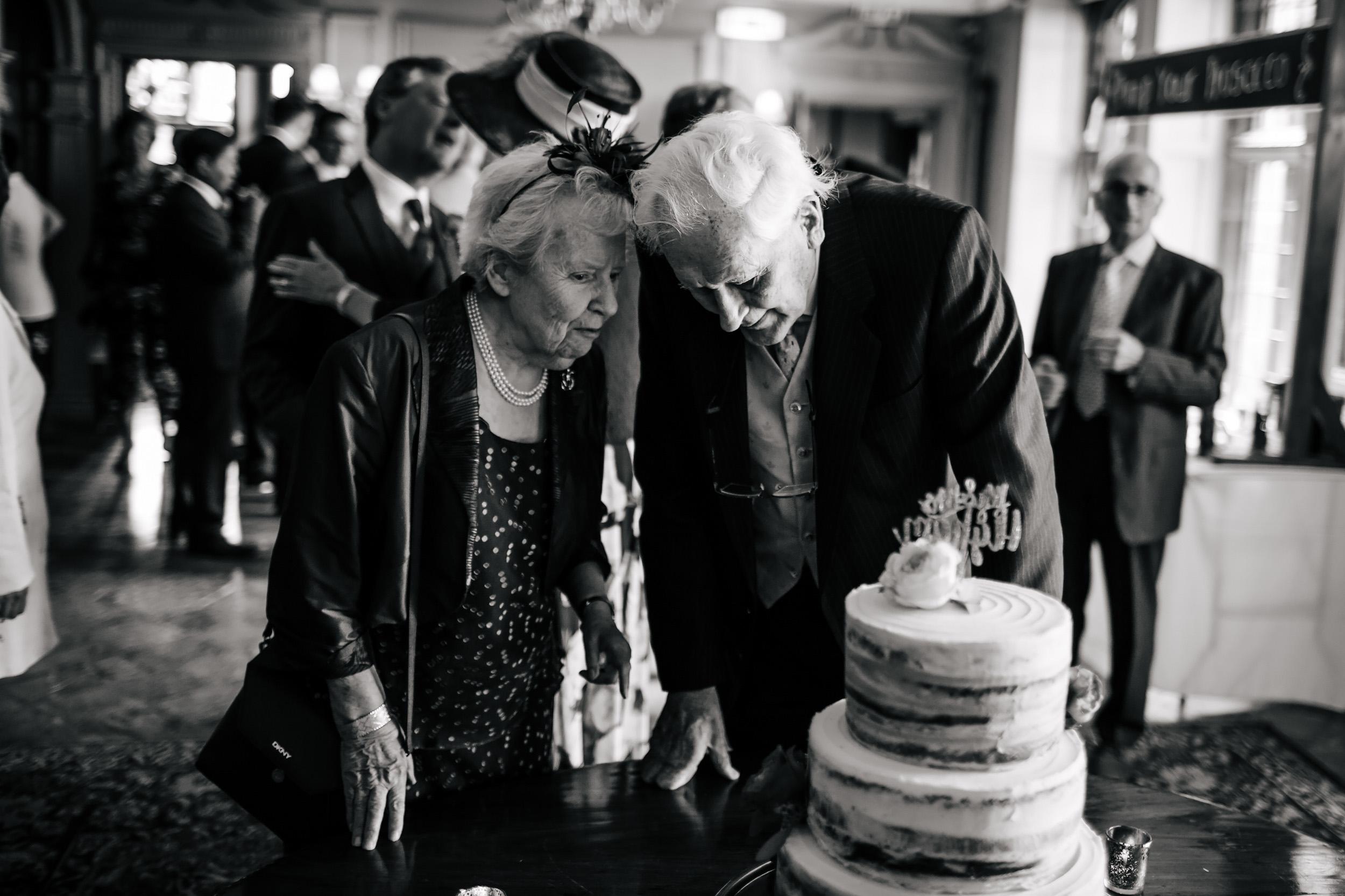 Wedding cake at Thornton Manor Cheshire