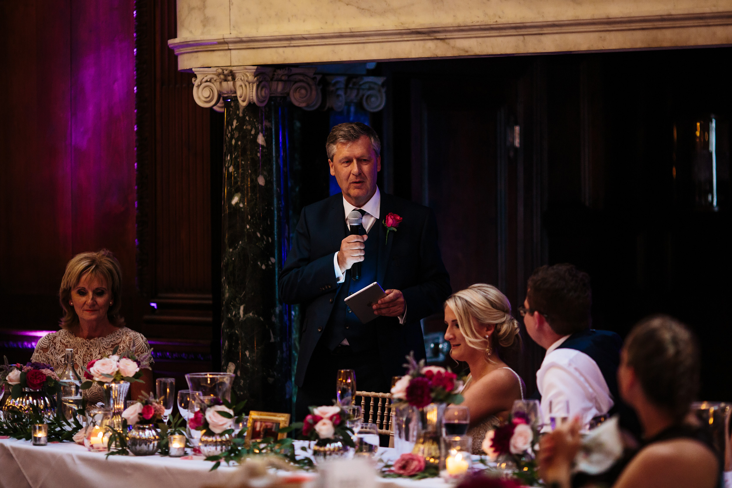 Father of the bride speech at Thornton Manor Cheshire
