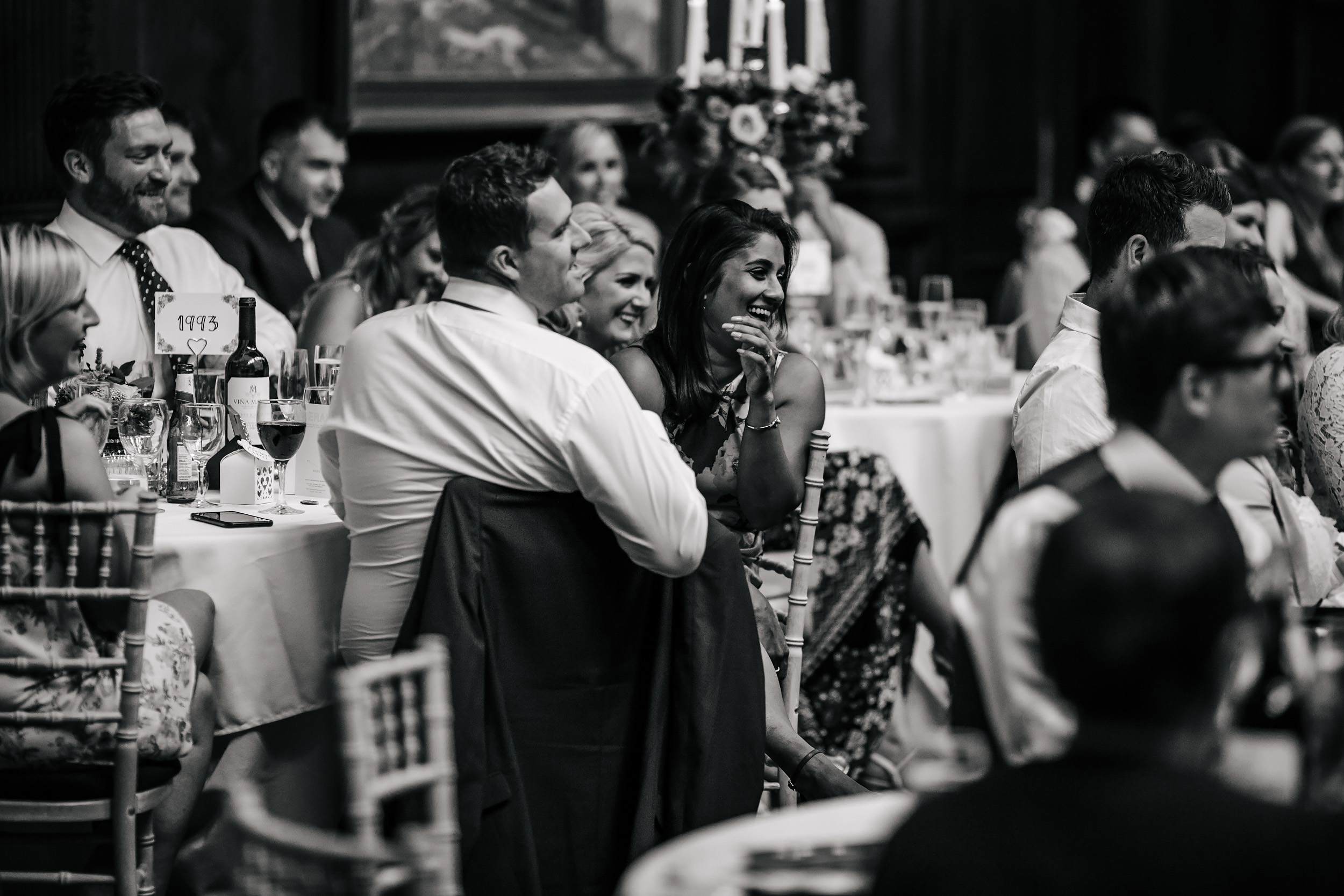 Guests laughing at Thornton Manor in Cheshire