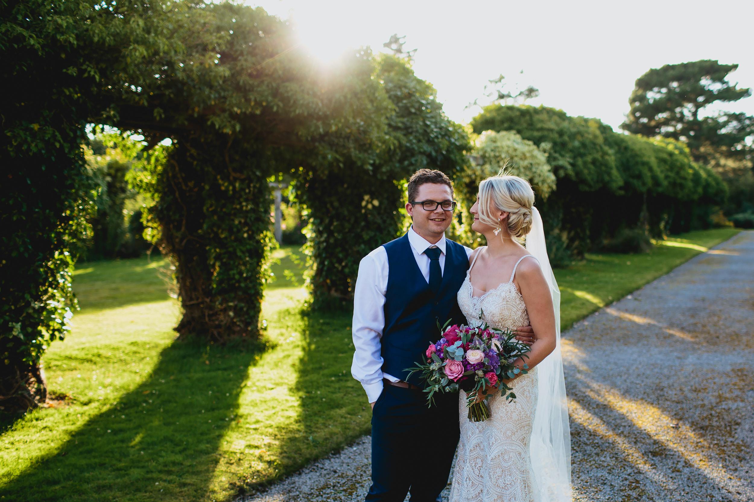 Wedding portrait at Thornton Manor Cheshire