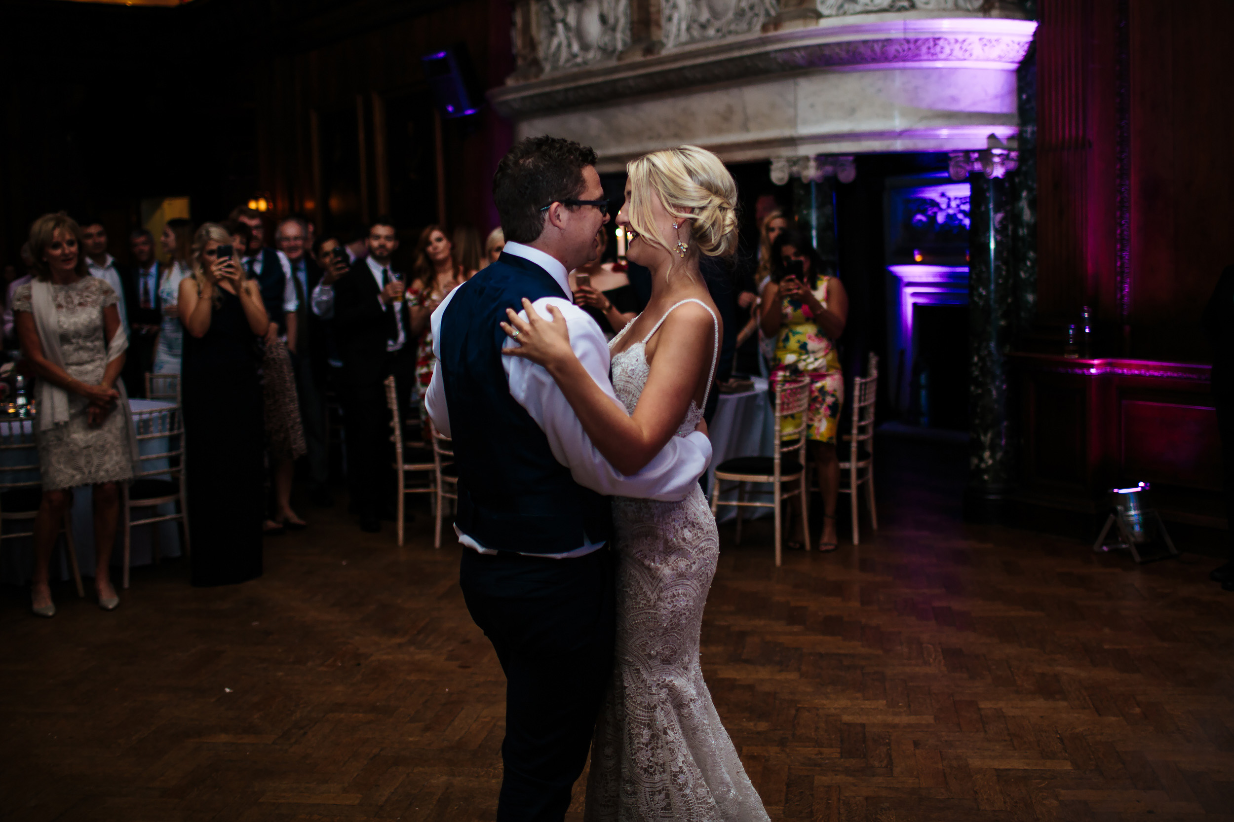 Bride and groom first dance at Thornton Manor Cheshire