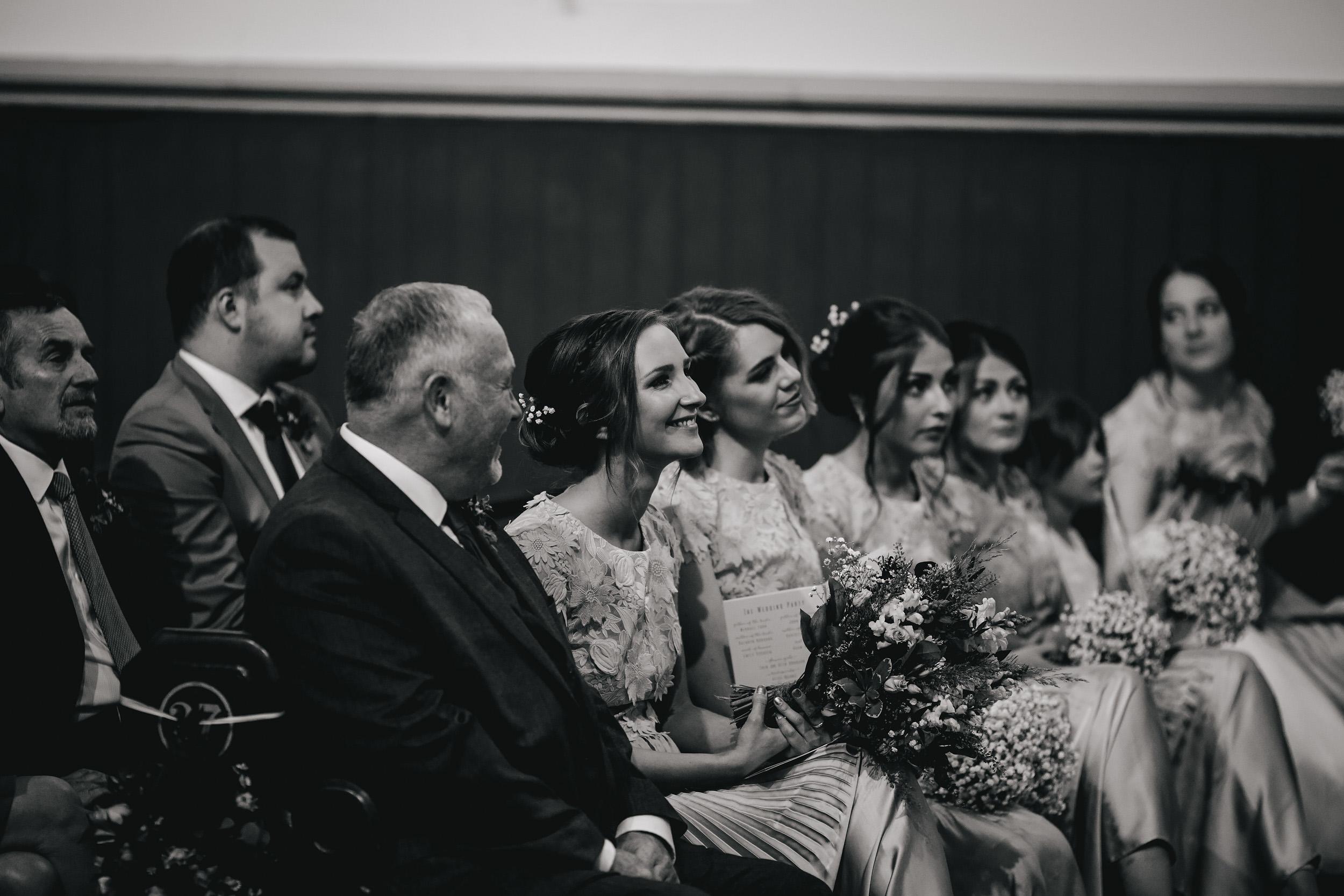 Bridesmaids at a church wedding in Leeds