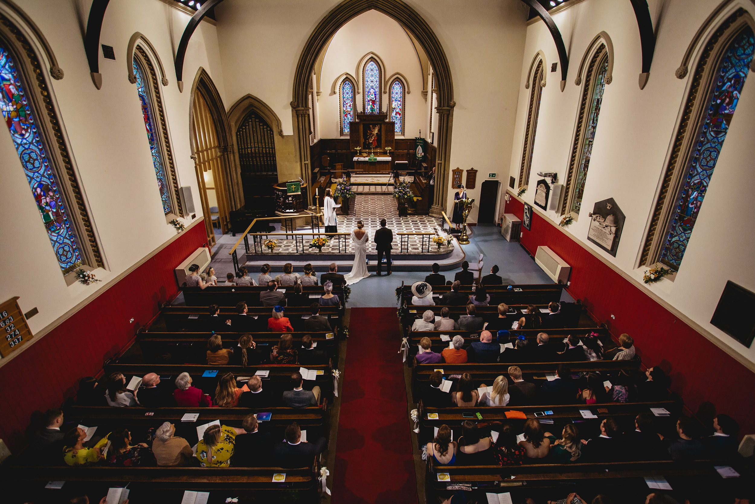 Church ceremony at a wedding