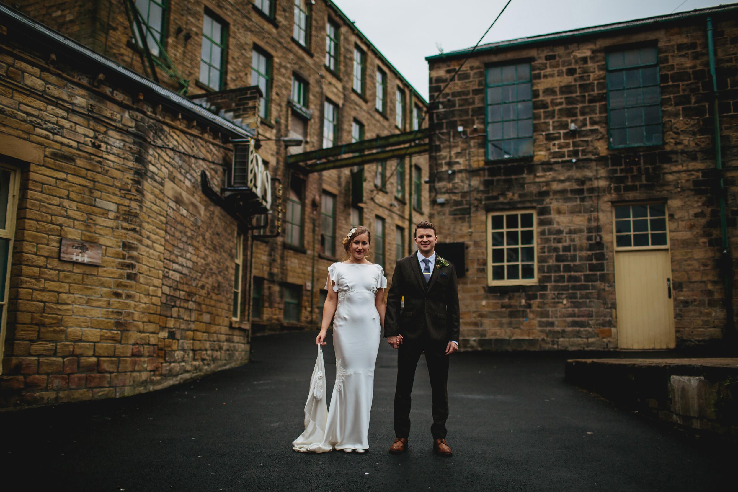 Wedding portrait at Sunny Bank Mills Leeds