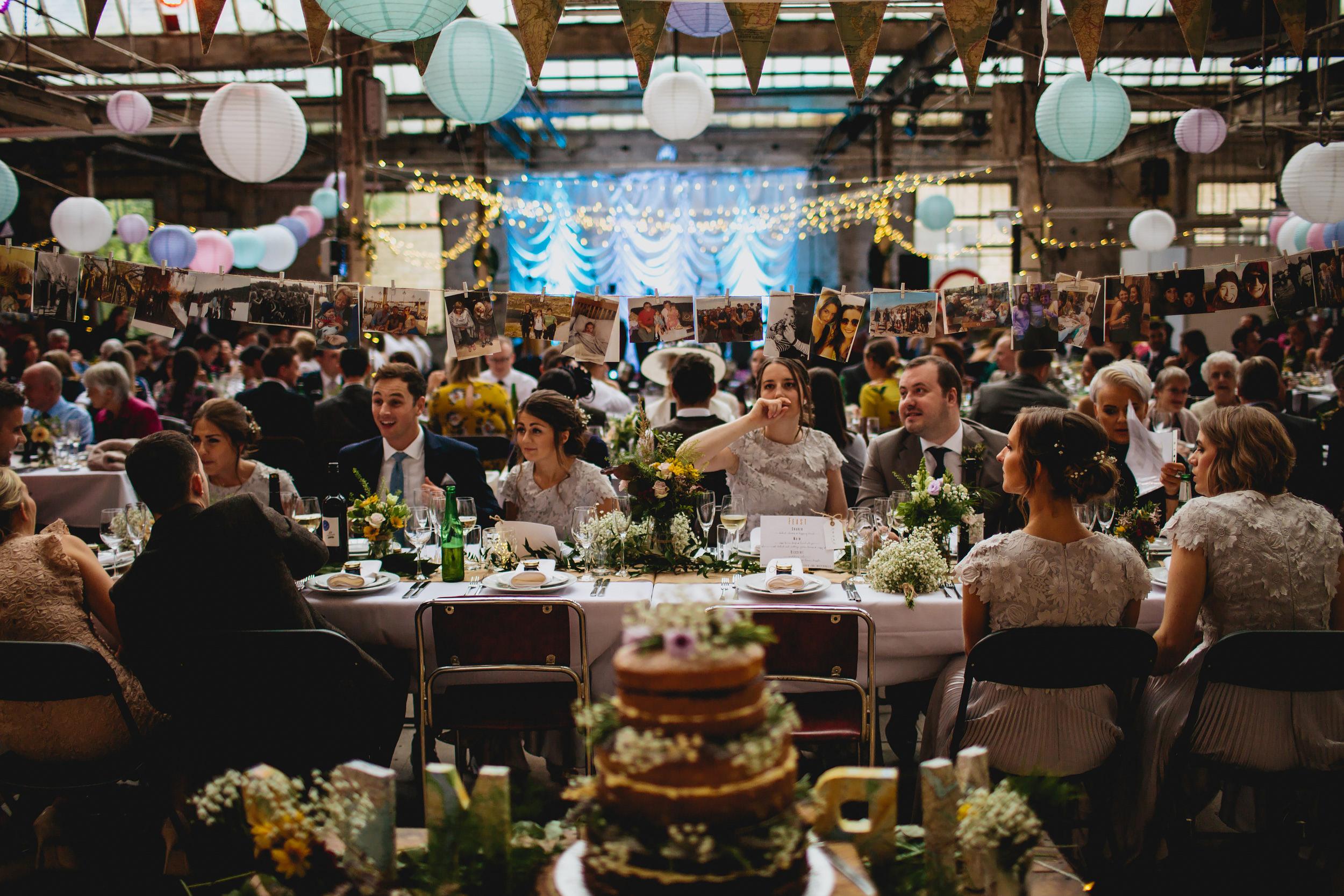 Wedding guests at Sunny Bank Mills
