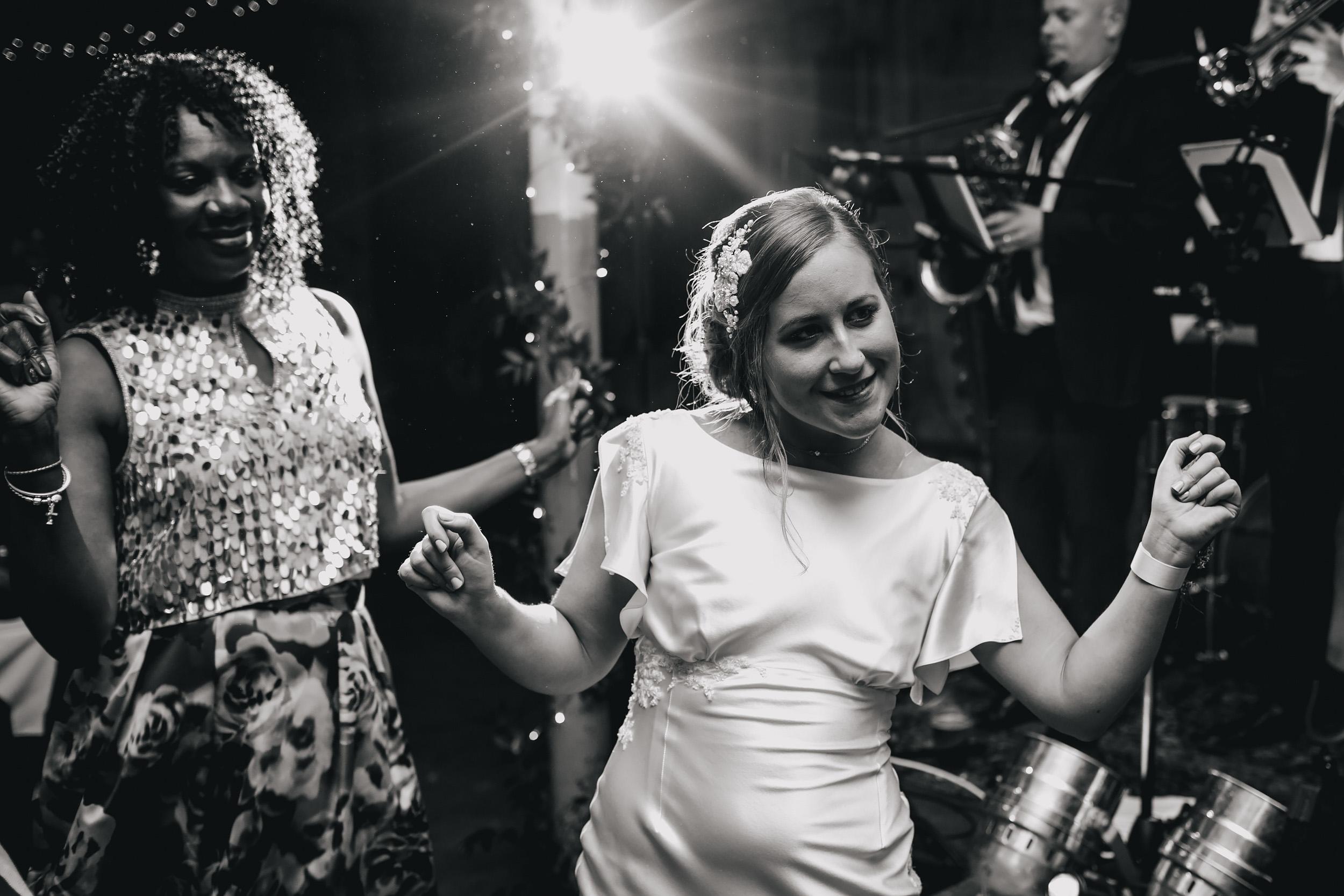 Bride dances at her Yorkshire wedding
