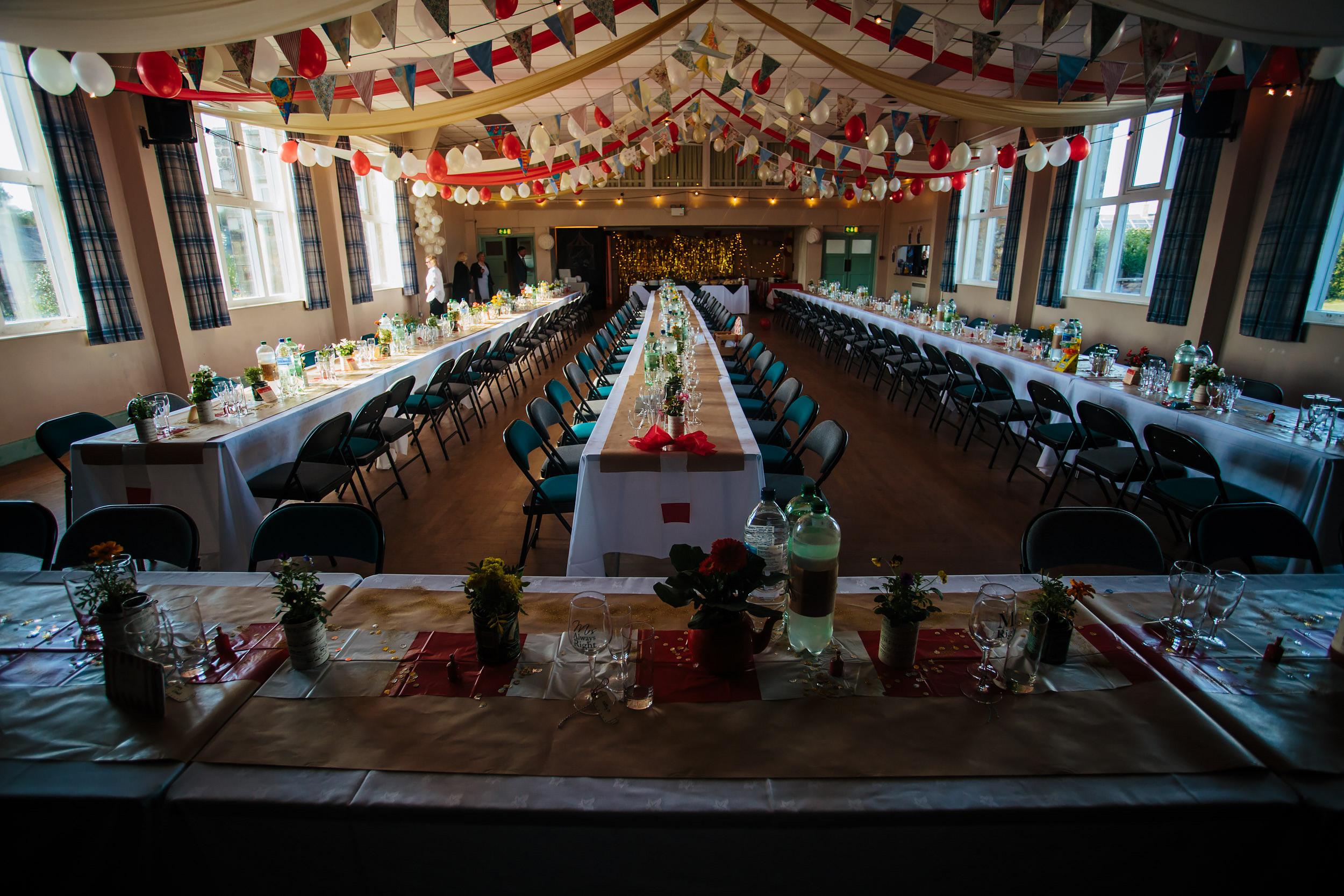 Village hall wedding in Lancashire
