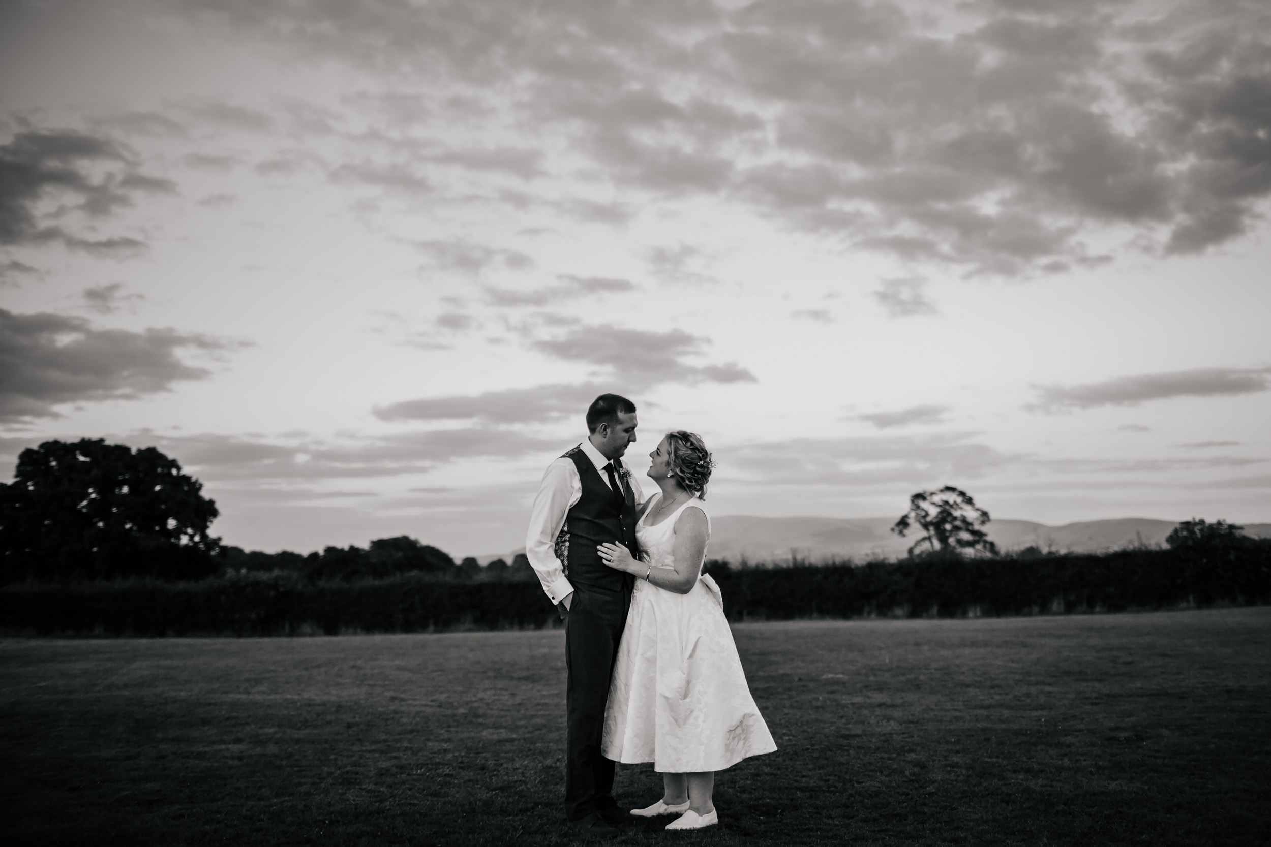 Bride and groom couple portrait on their wedding day