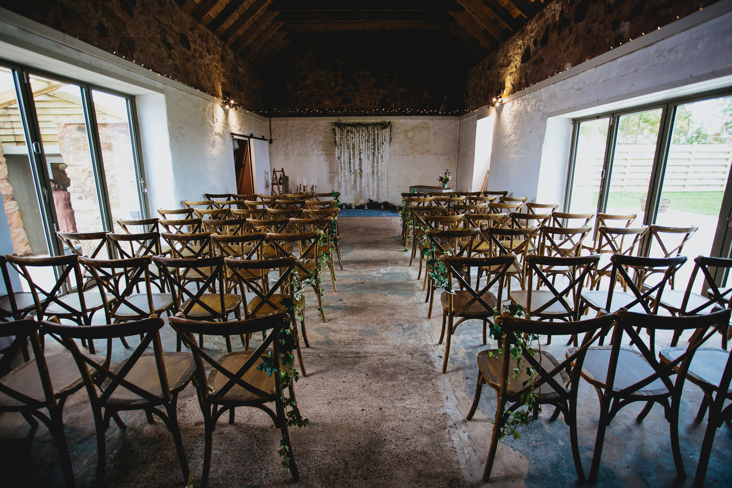 Wedding ceremony room at Cow Shed Crail