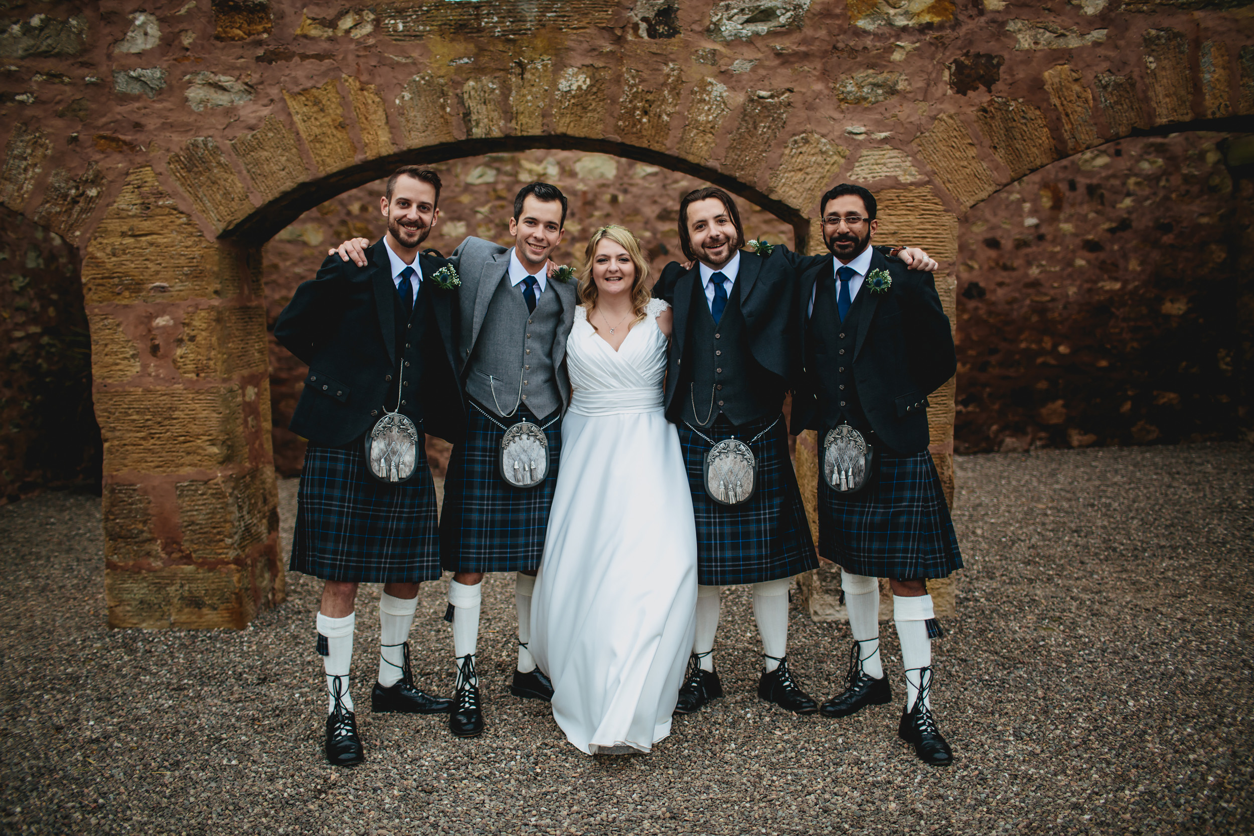 Wedding group shot in Scotland