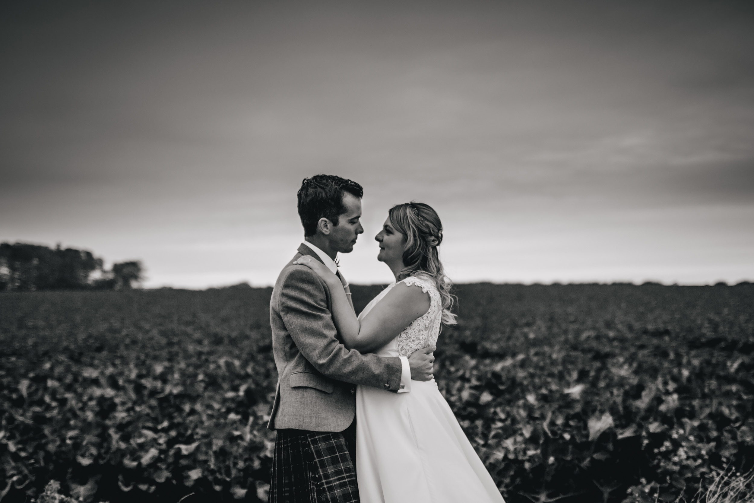 Wedding portrait in Crail Scotland