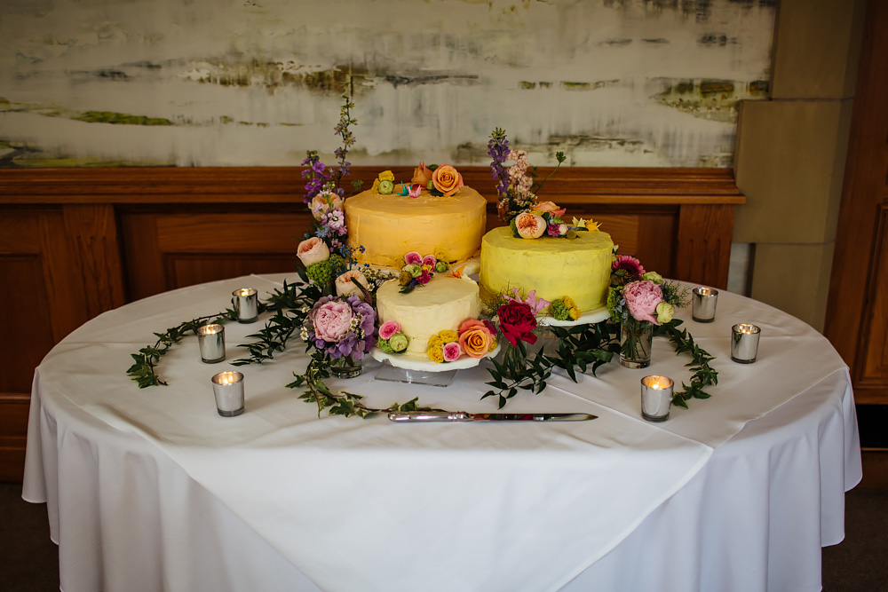 Cake at a Lancashire wedding