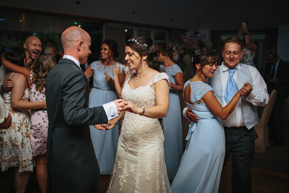 Bride and groom first dance at a Gibbon Bridge Hotel Lancashire wedding